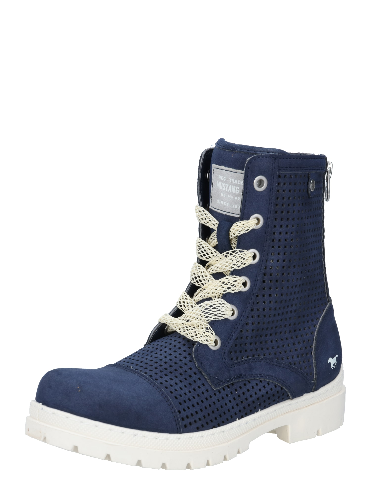 MUSTANG Auliniai batai tamsiai mėlyna