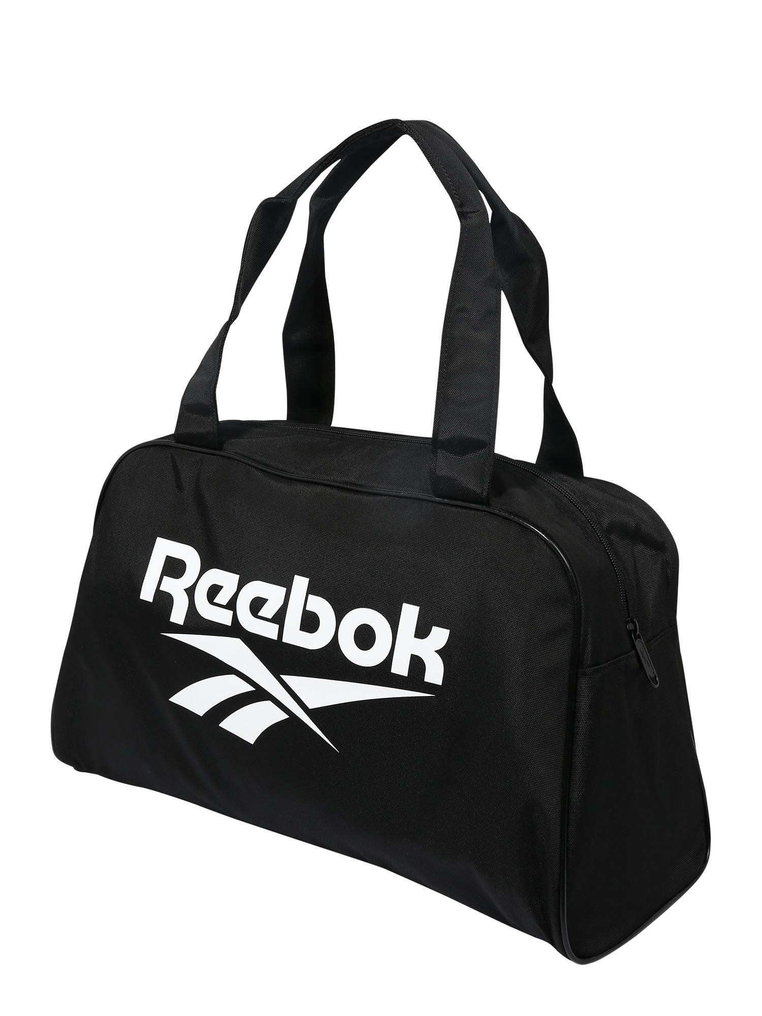 Reebok Classic Savaitgalio krepšys juoda / balta