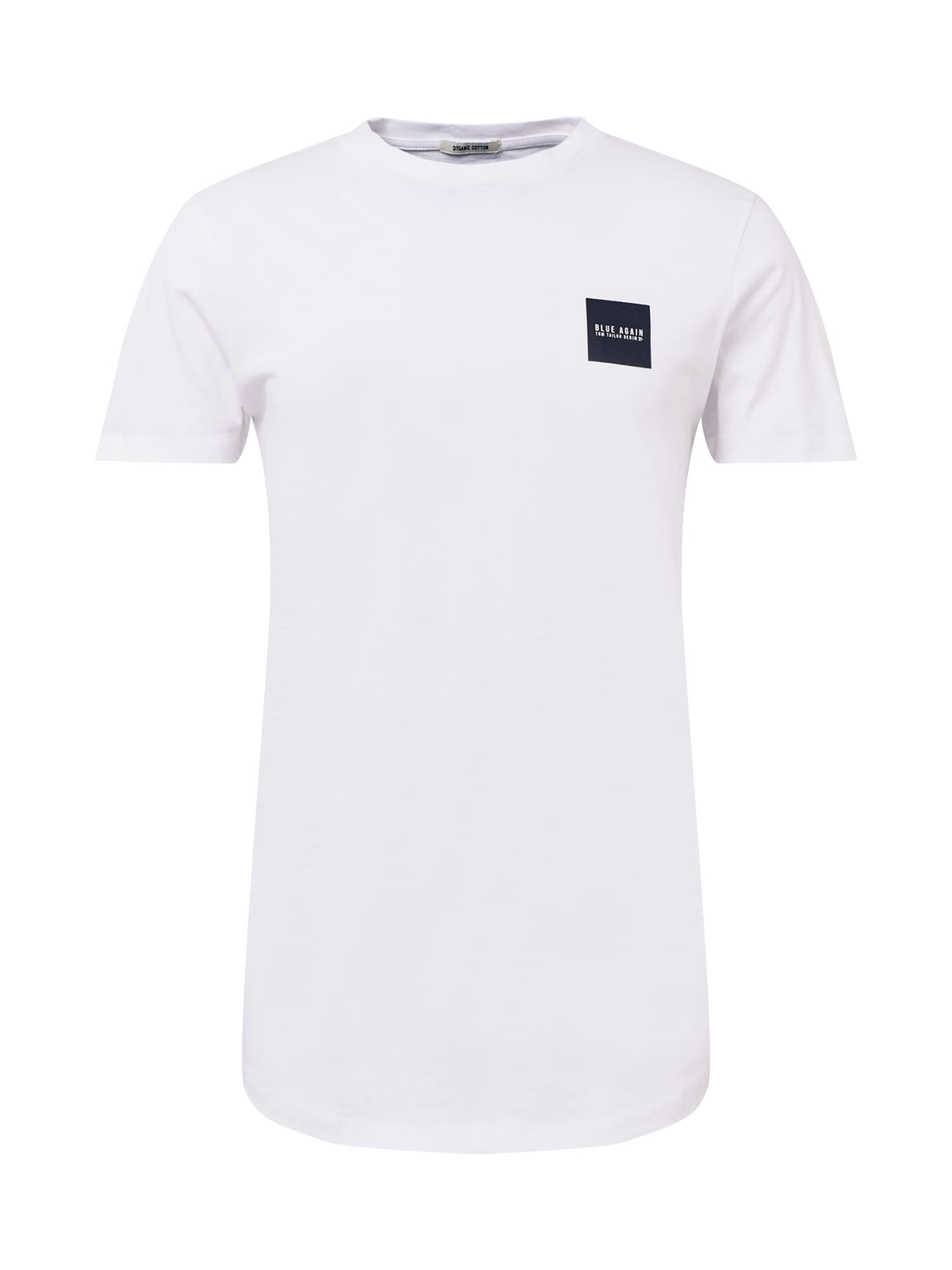 TOM TAILOR DENIM Tričko  bílá / tmavě modrá