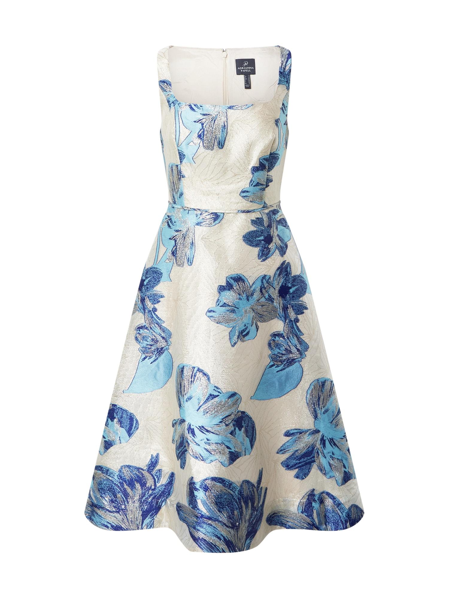 Adrianna Papell Suknelė mėlyna / natūrali balta / šviesiai mėlyna / sidabrinė