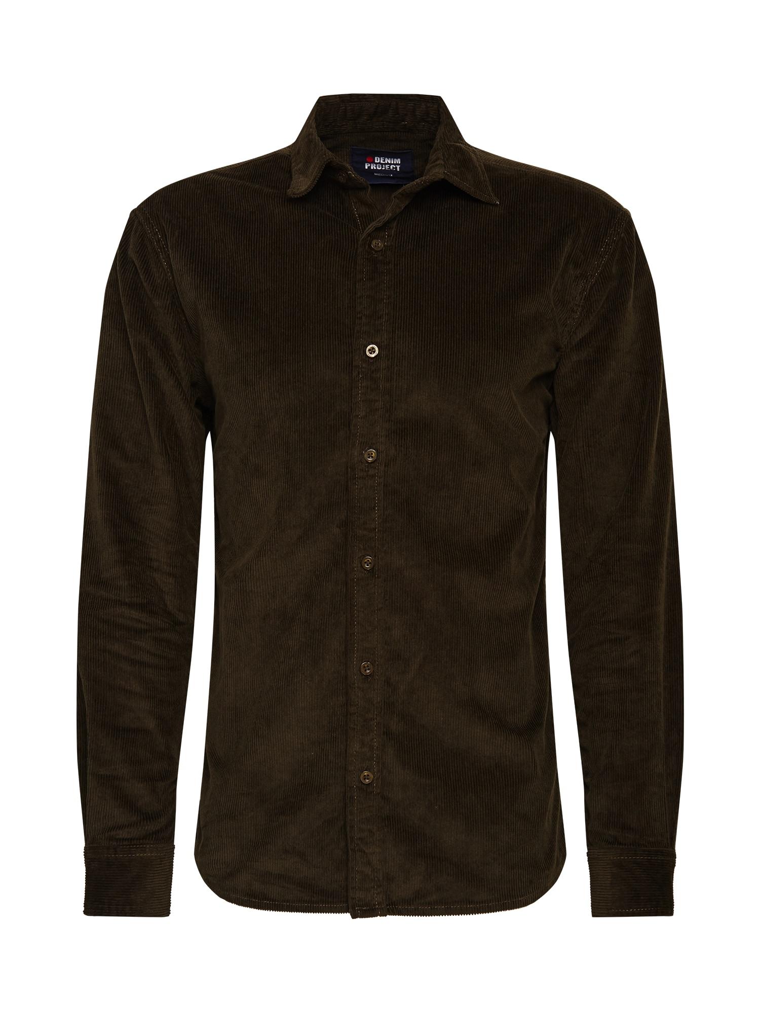 Denim Project Marškiniai alyvuogių spalva