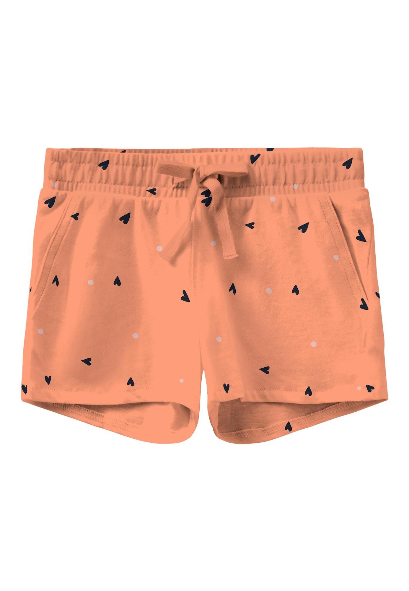 NAME IT Kalhoty 'Vigga'  mandarinkoná / noční modrá / barva vaječné skořápky