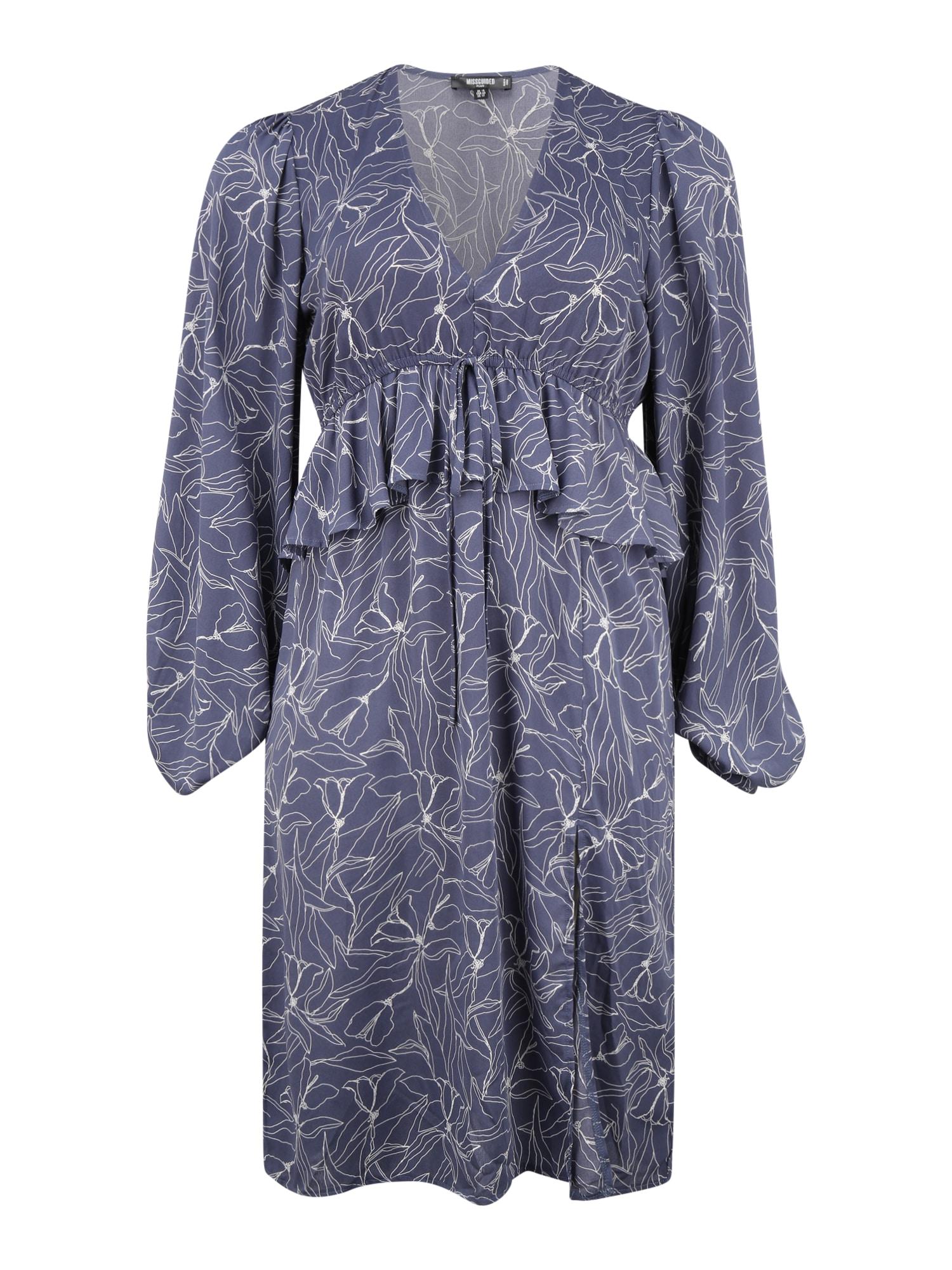 Missguided Plus Suknelė tamsiai mėlyna / balta