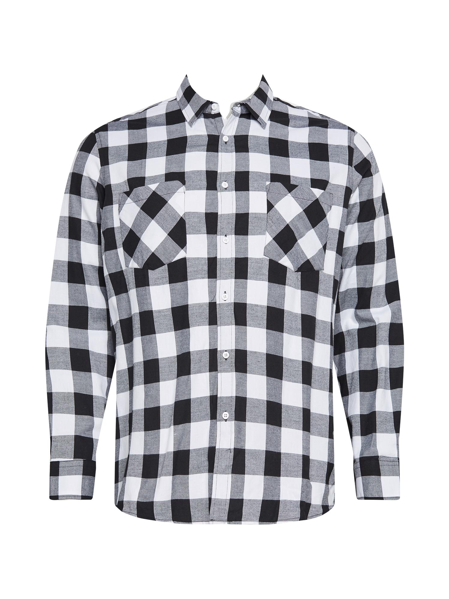 Urban Classics Big & Tall Marškiniai balta / juoda