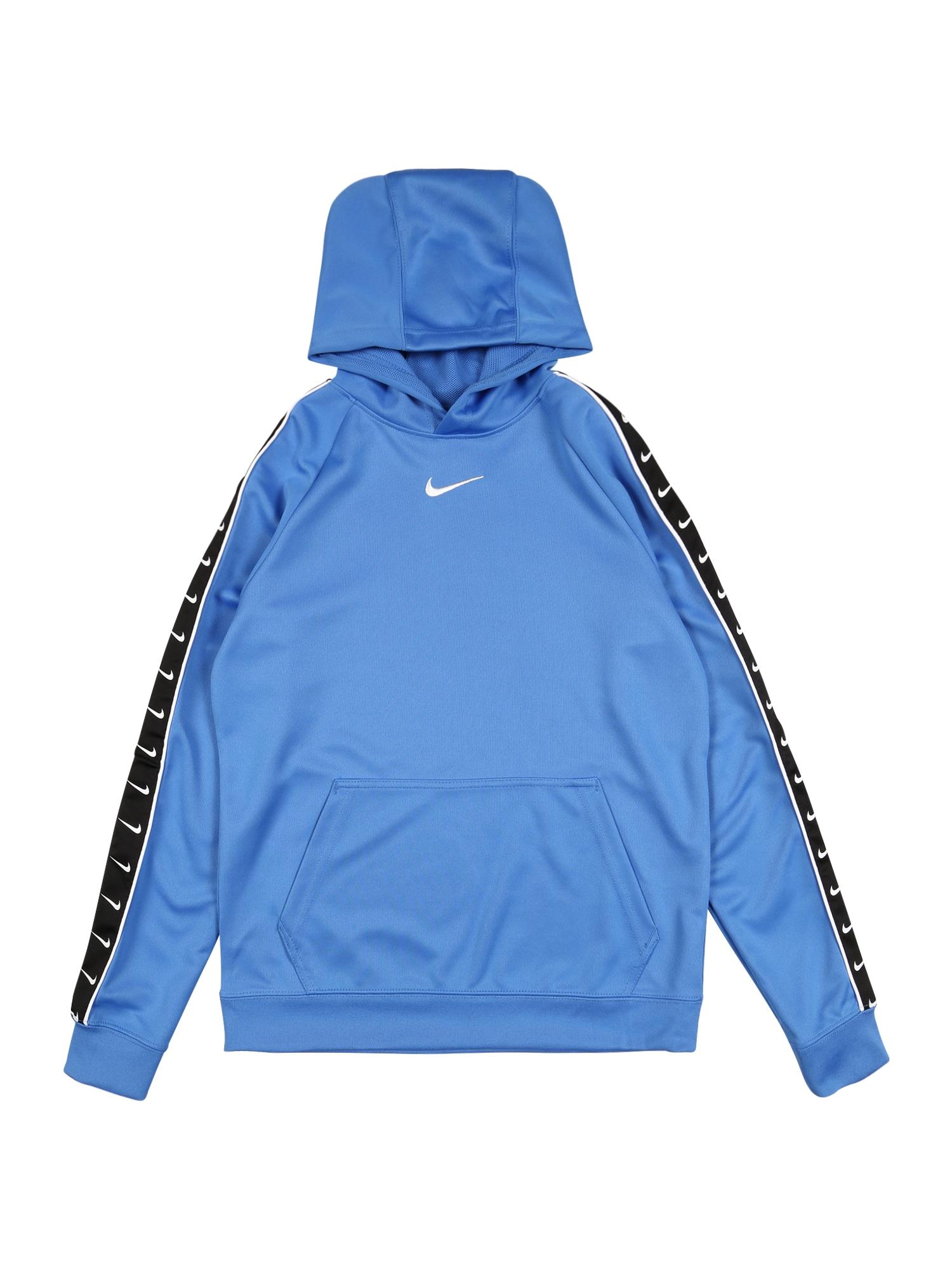 Nike Sportswear Mikina  čierna / biela / dymovo modrá