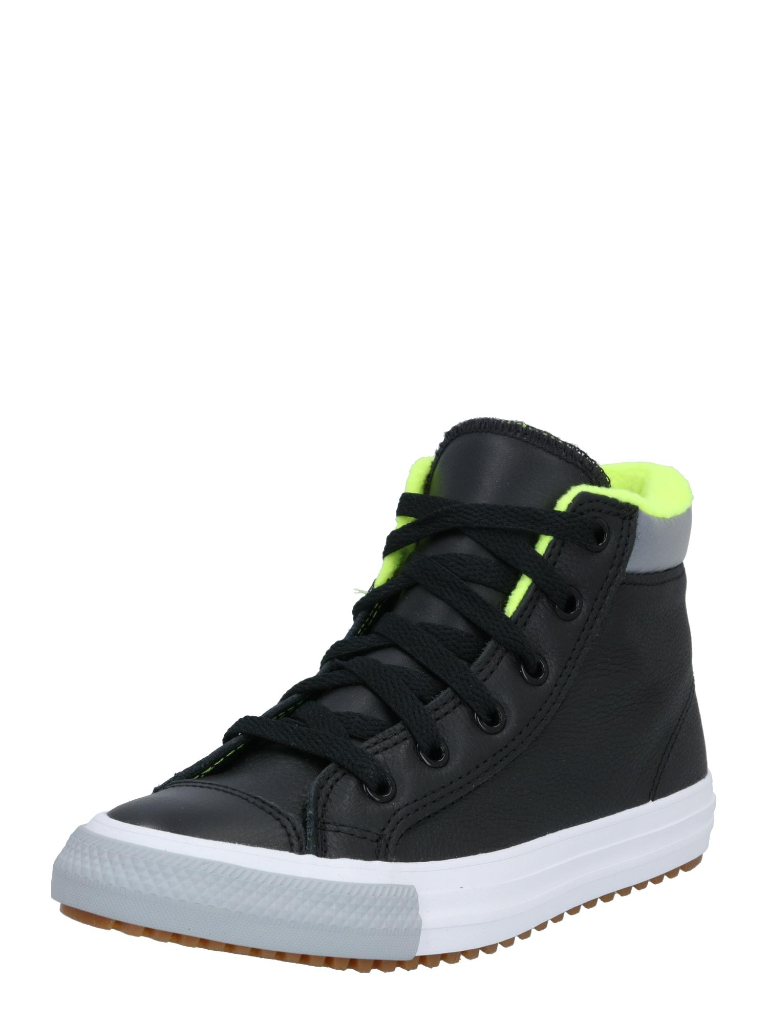 CONVERSE Sportbačiai juoda / neoninė žalia