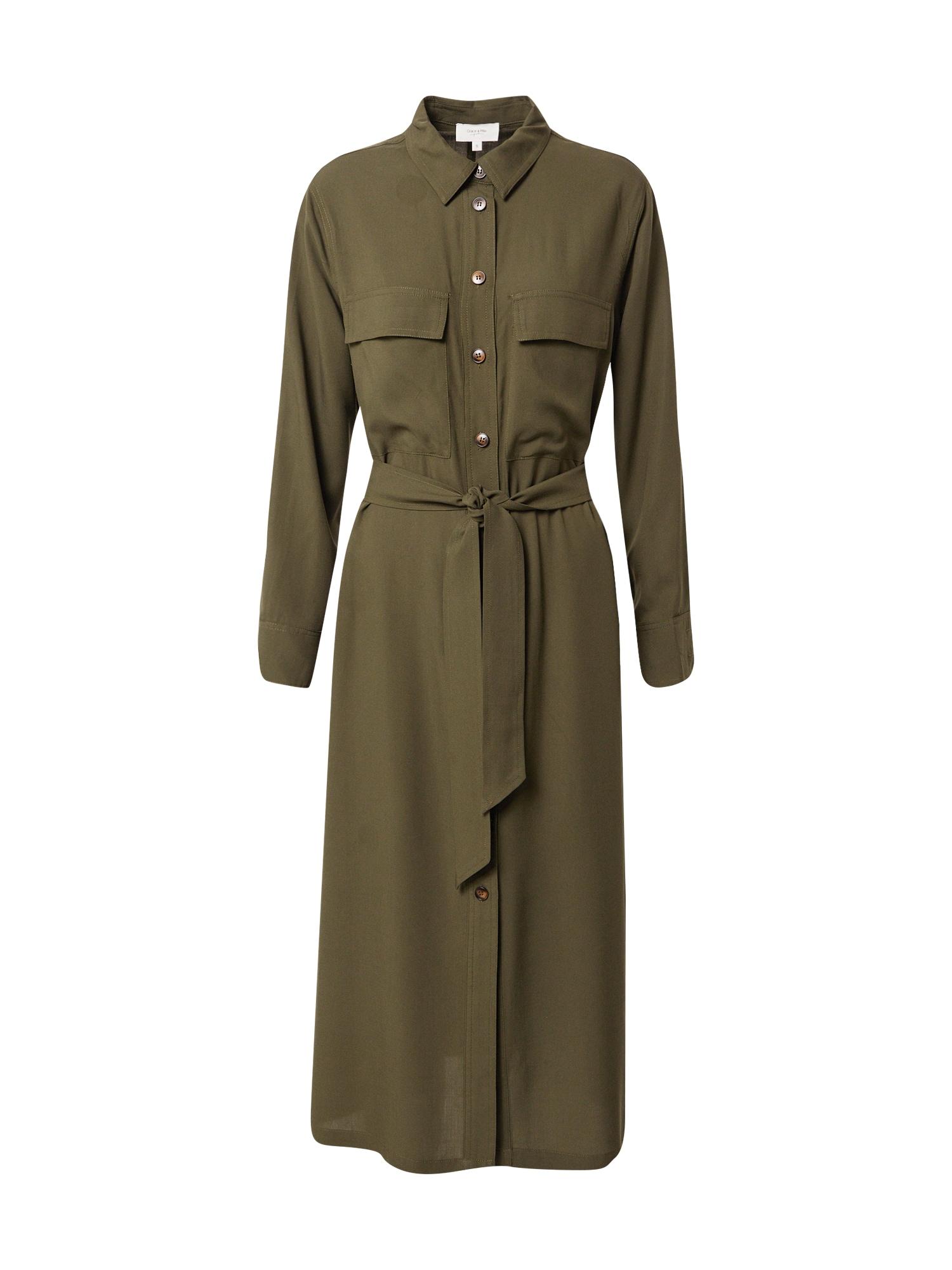 Grace & Mila Palaidinės tipo suknelė rusvai žalia