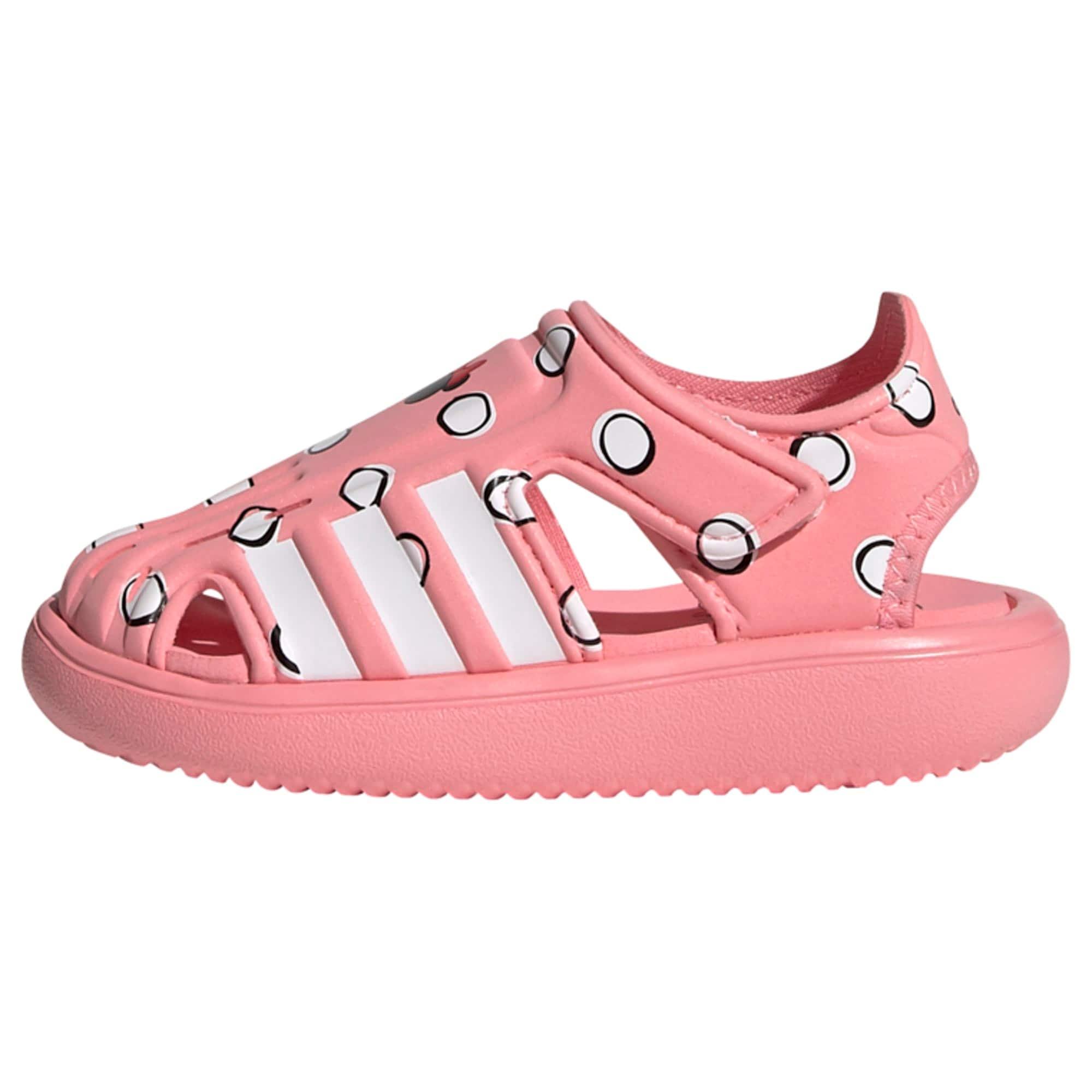 ADIDAS PERFORMANCE Plážová/koupací obuv  bílá / černá / světle růžová / červená