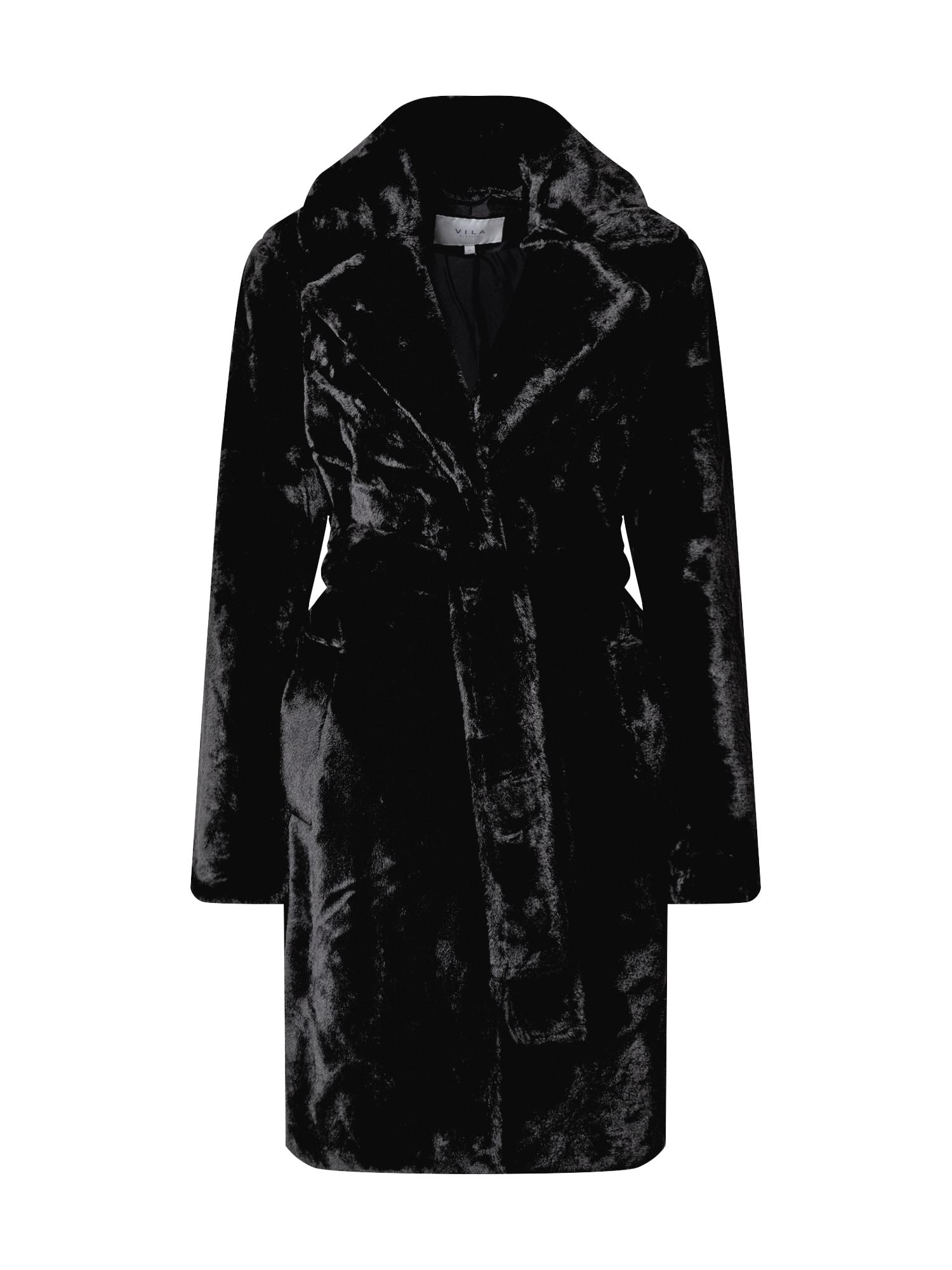 VILA Zimní kabát  černá