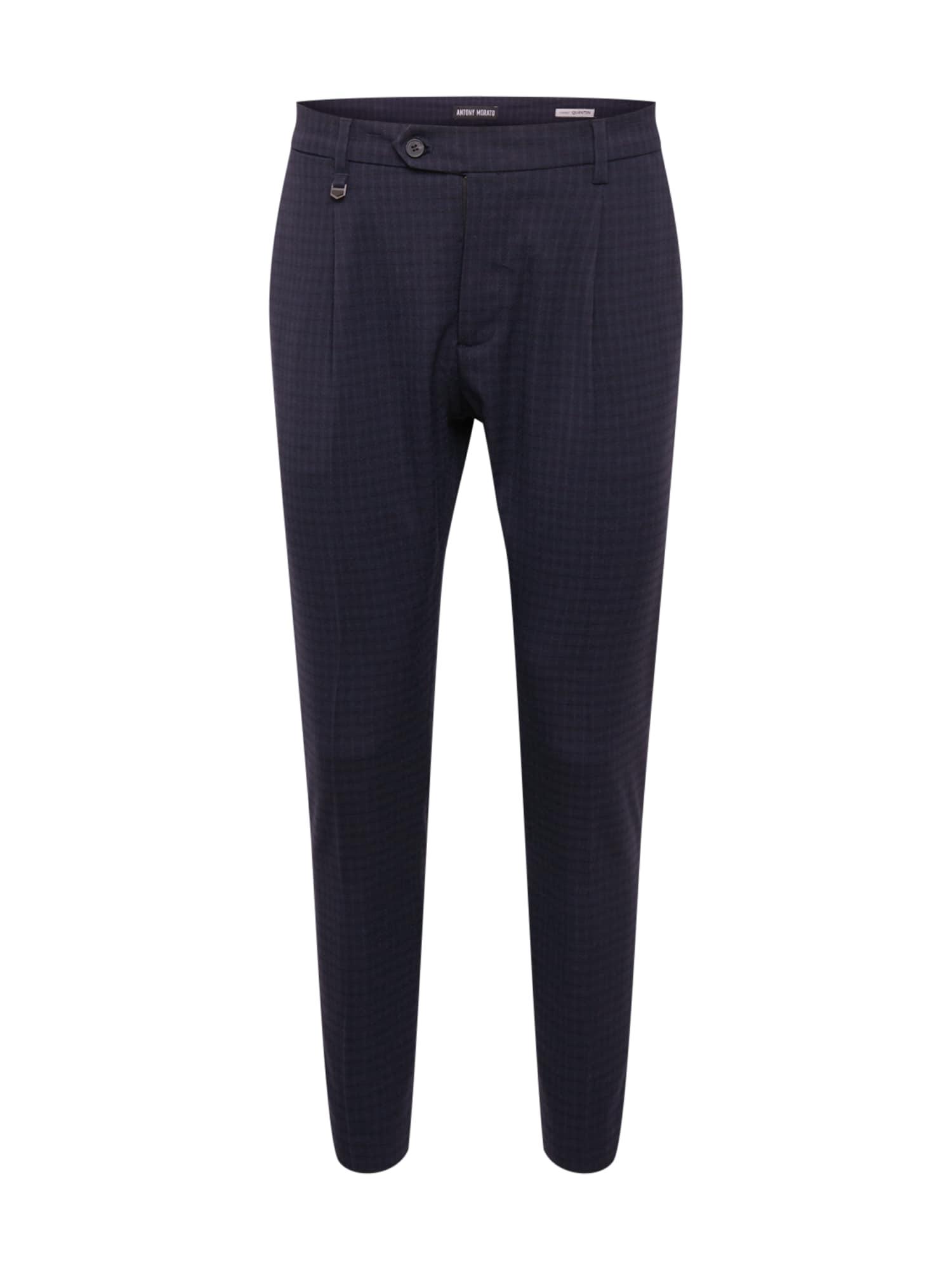 ANTONY MORATO Kalhoty se sklady v pase  námořnická modř / fialkově modrá