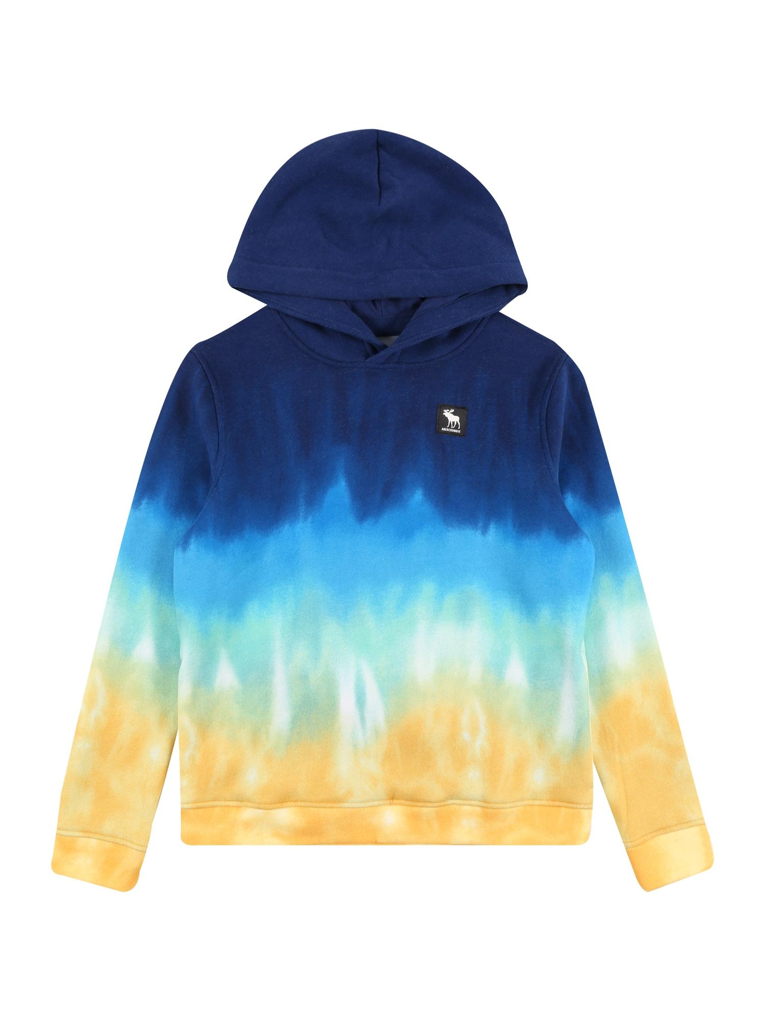 Abercrombie & Fitch Megztinis be užsegimo mėlyna / šviesiai mėlyna / pastelinė žalia / geltona
