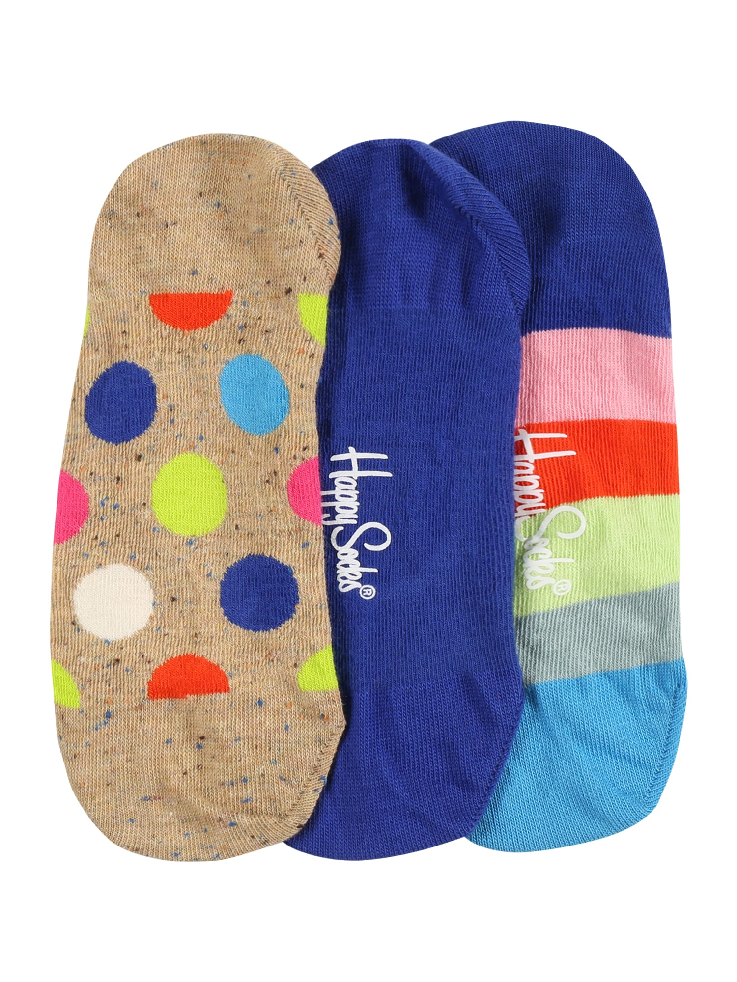 Happy Socks Kojinės gelsvai pilka spalva / indigo spalva / rožių spalva / pilka / neoninė geltona