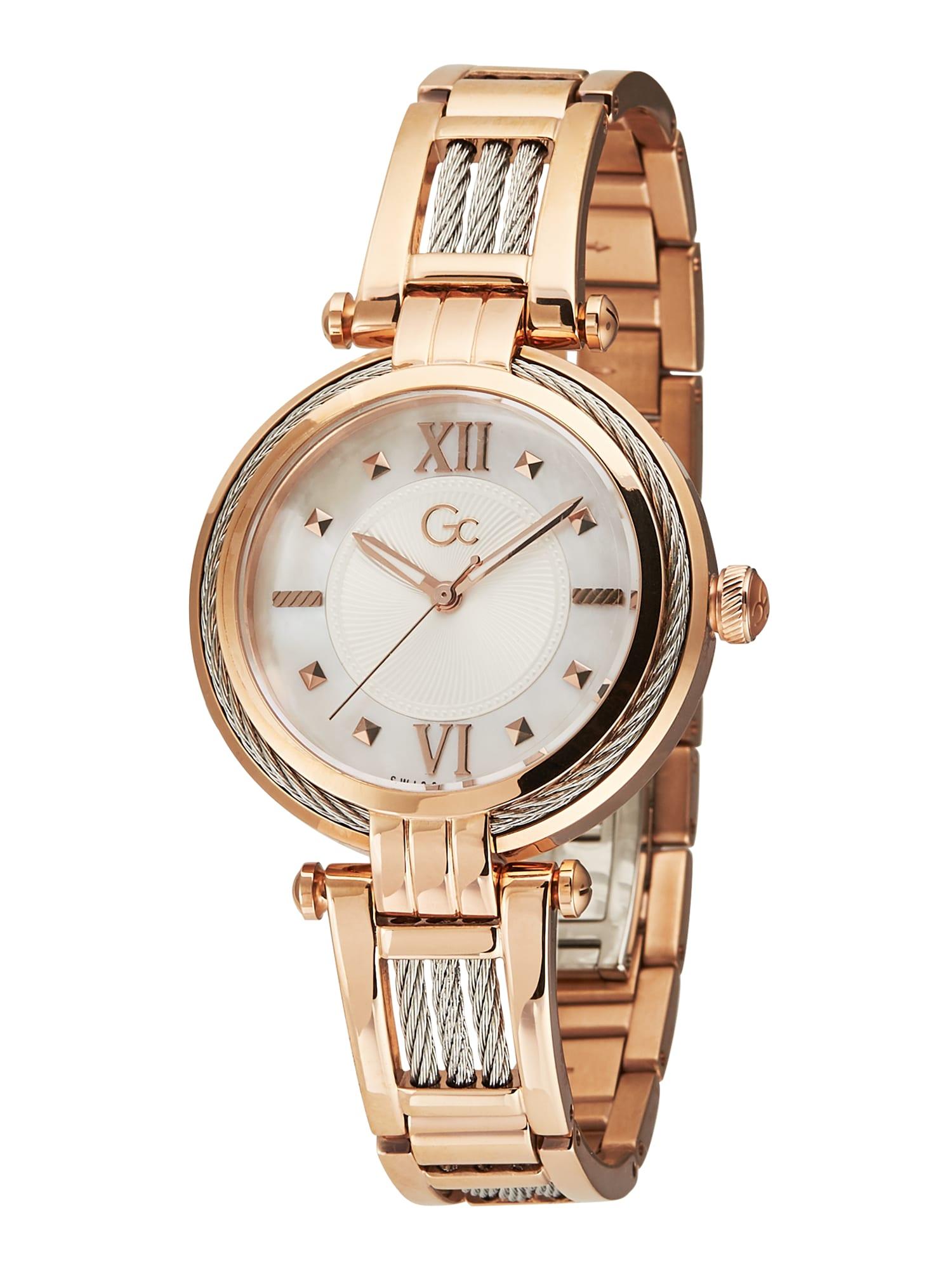 Gc Analoginis (įprasto dizaino) laikrodis 'CableBijou' rožinio aukso spalva / balta / sidabrinė
