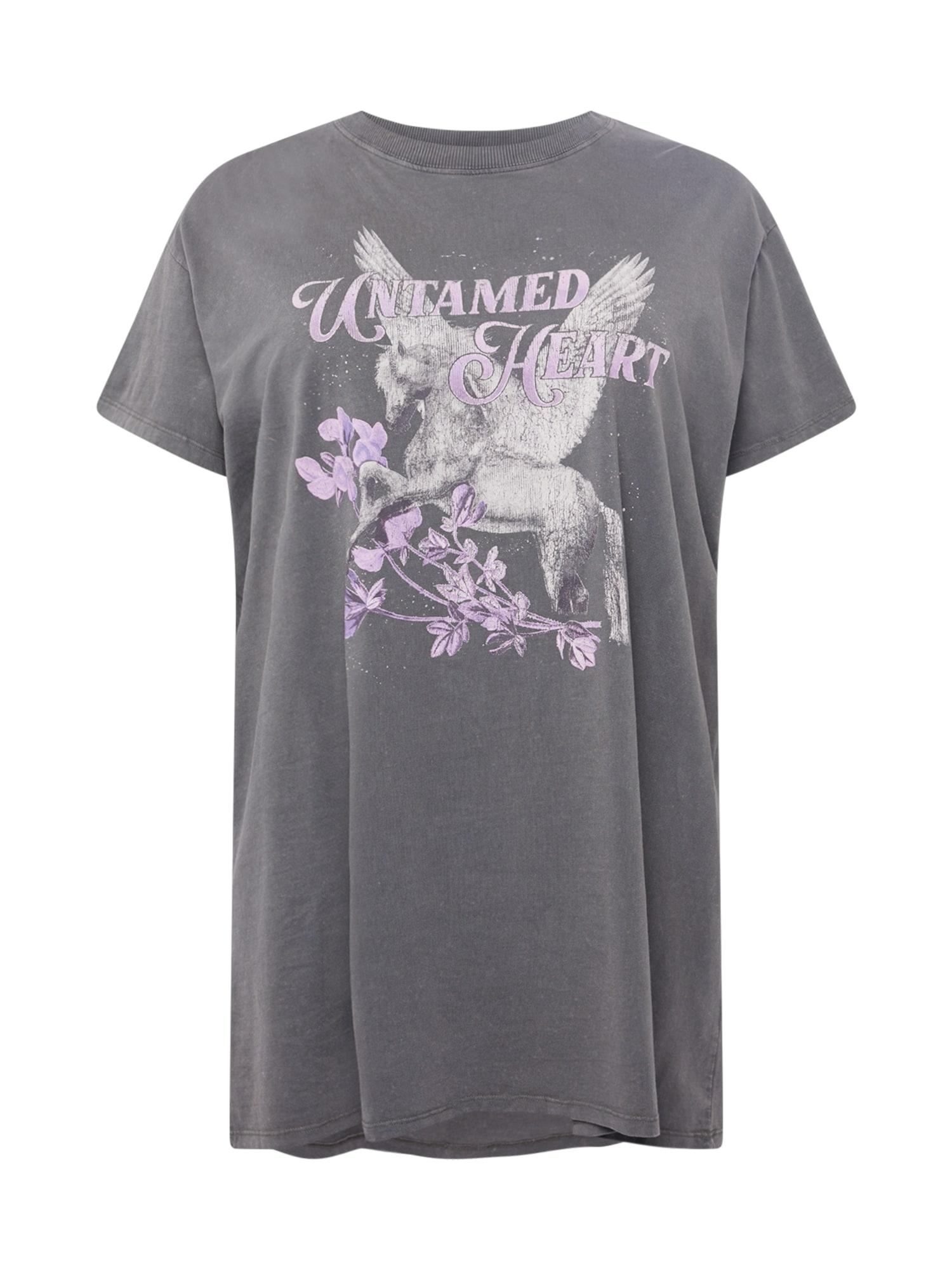 Cotton On Curve Suknelė tamsiai pilka / šviesiai pilka / pastelinė violetinė