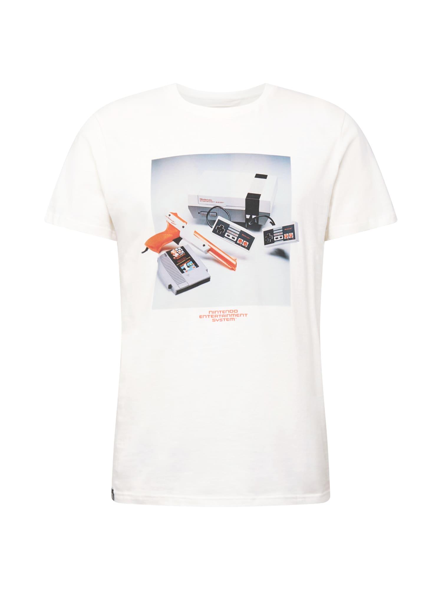DEDICATED. Marškinėliai 'Stockholm NES Consol' balta / mišrios spalvos