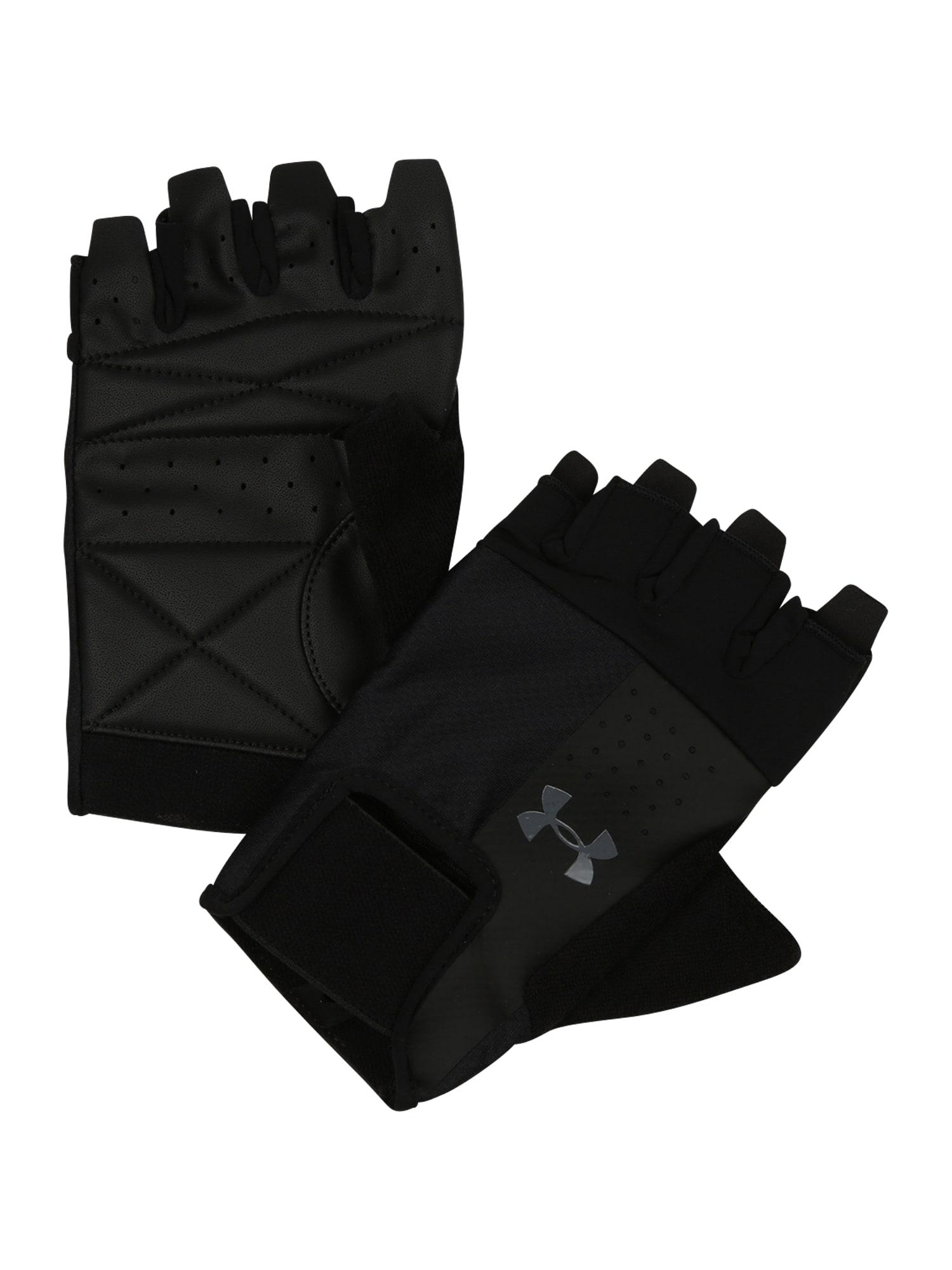 UNDER ARMOUR Sportinės pirštinės juoda / pilka