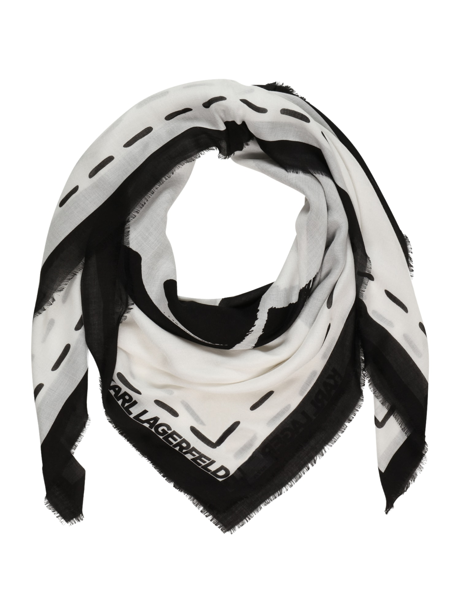 Karl Lagerfeld Skara juoda / balta