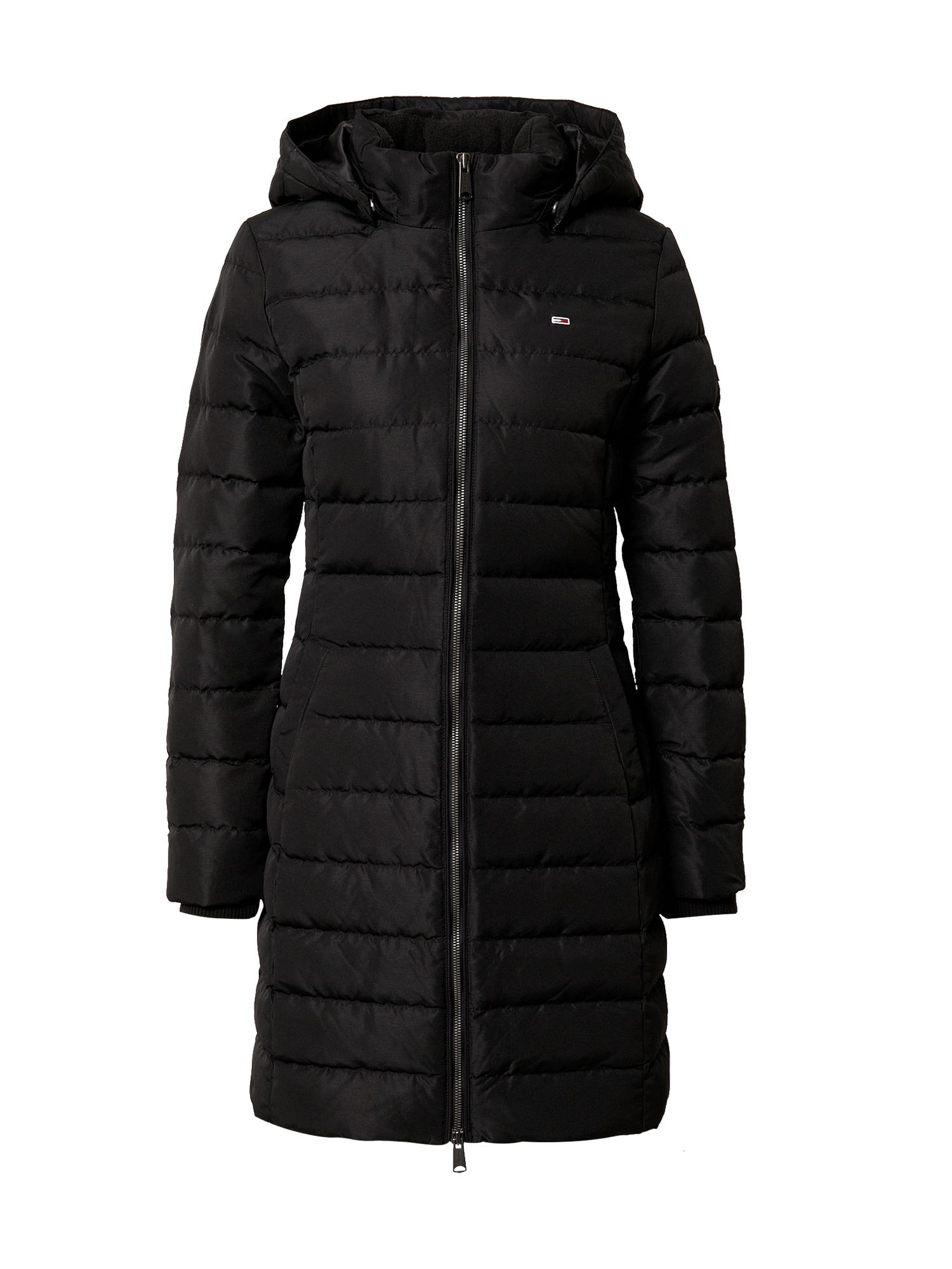 Tommy Jeans Zimní kabát  černá