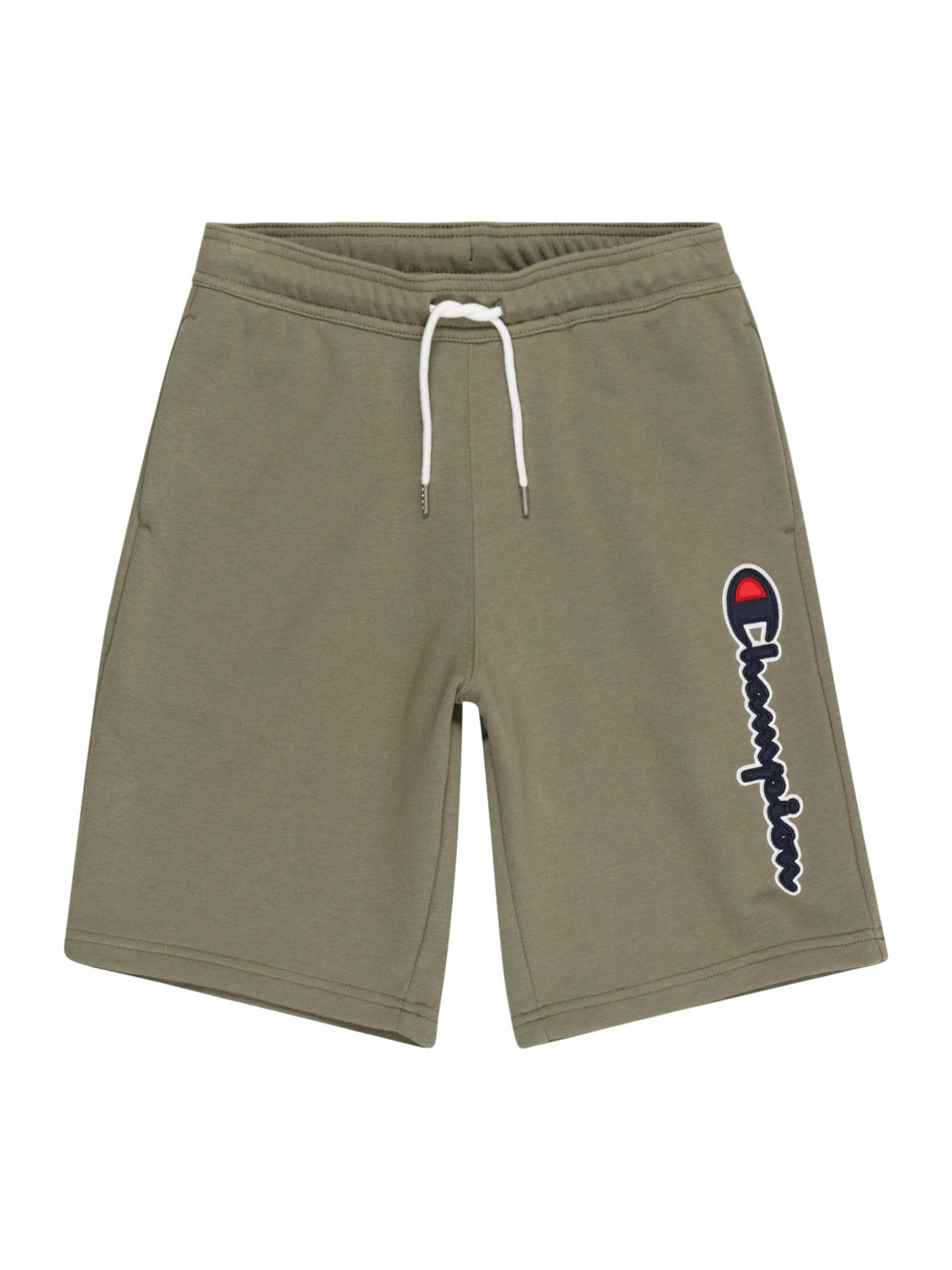 Champion Authentic Athletic Apparel Kelnės rusvai žalia / balta / raudona / nakties mėlyna
