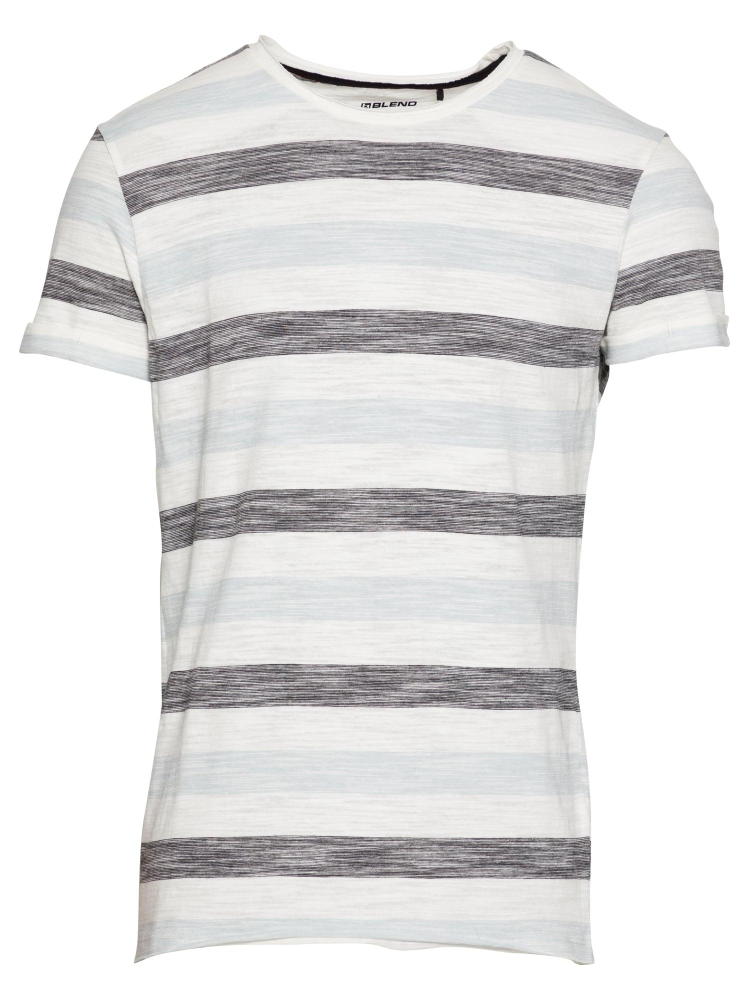 BLEND Marškinėliai balta / tamsiai mėlyna / pastelinė mėlyna