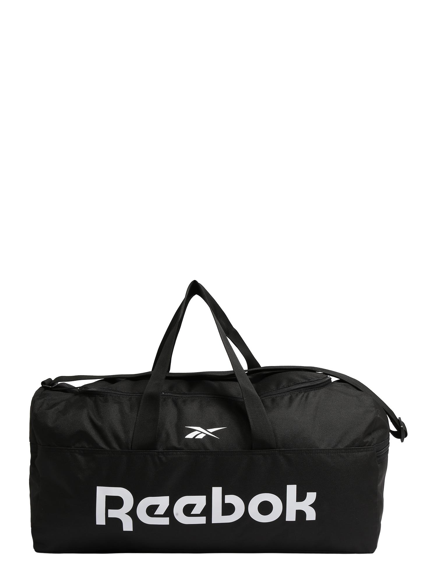 REEBOK Sportinis krepšys juoda / balta