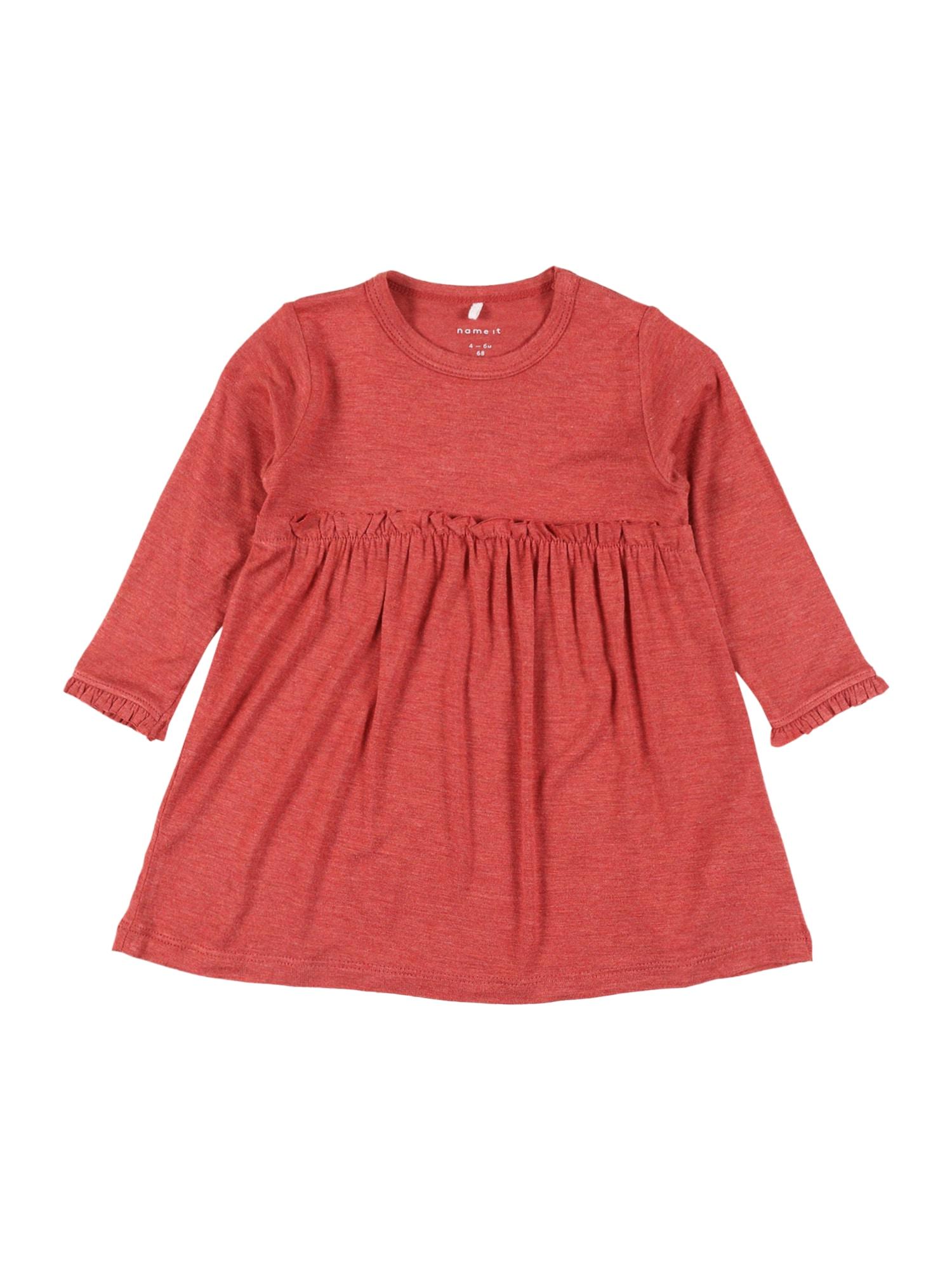 NAME IT Suknelė 'DIANA' raudona / margai raudona