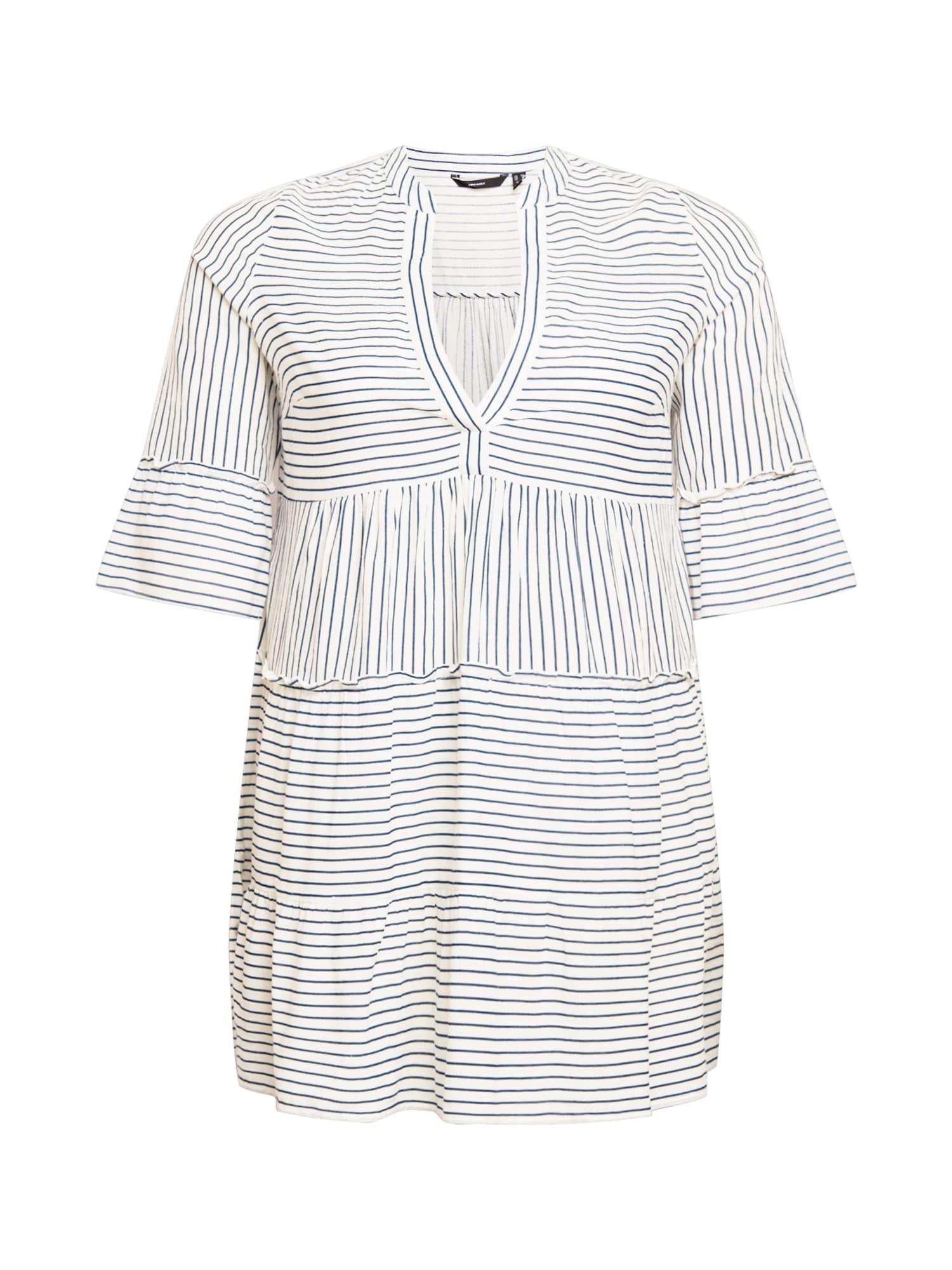 Vero Moda Curve Košilové šaty 'VMHELI'  bílá / antracitová