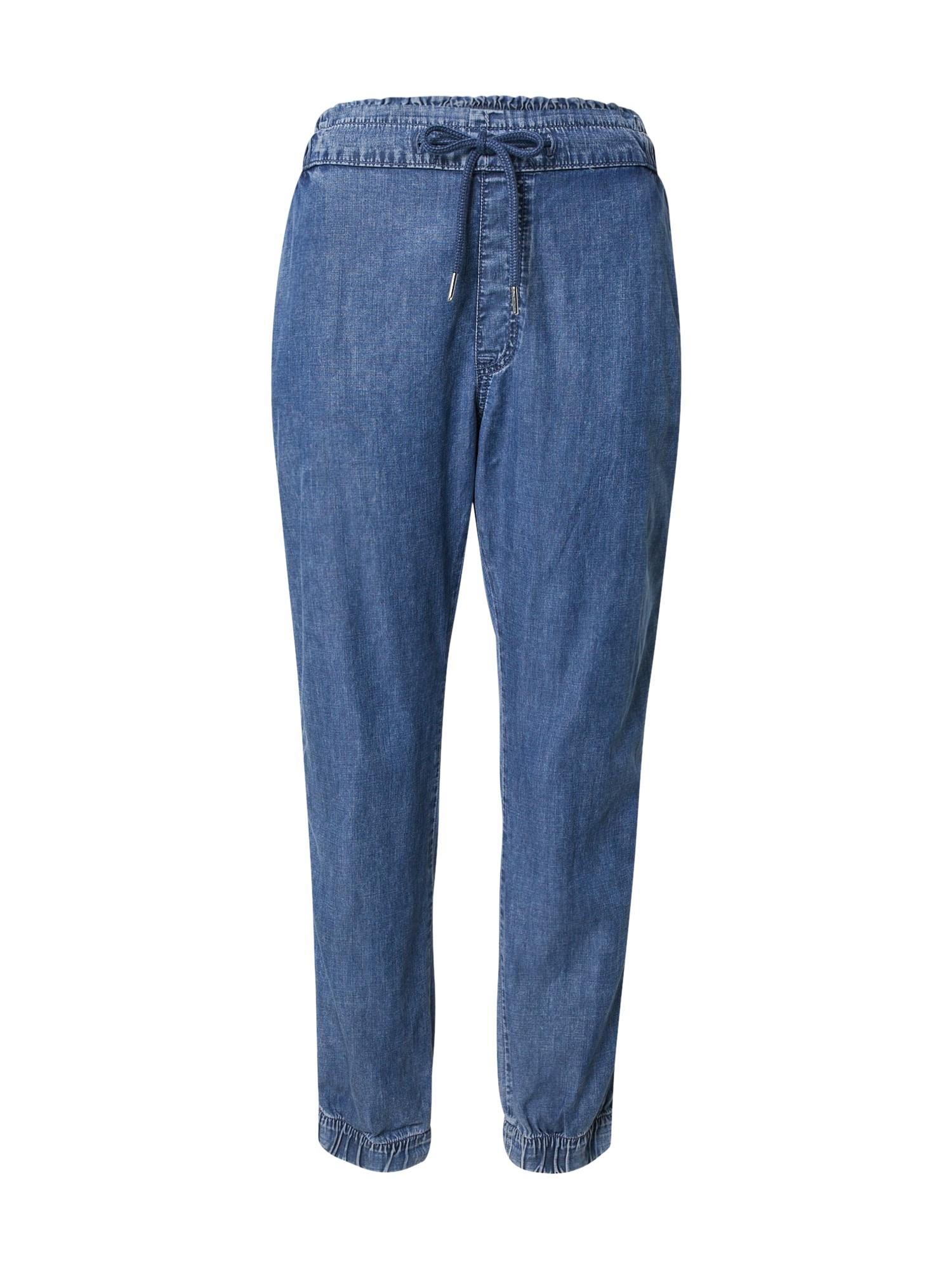 EDC BY ESPRIT Kelnės tamsiai (džinso) mėlyna
