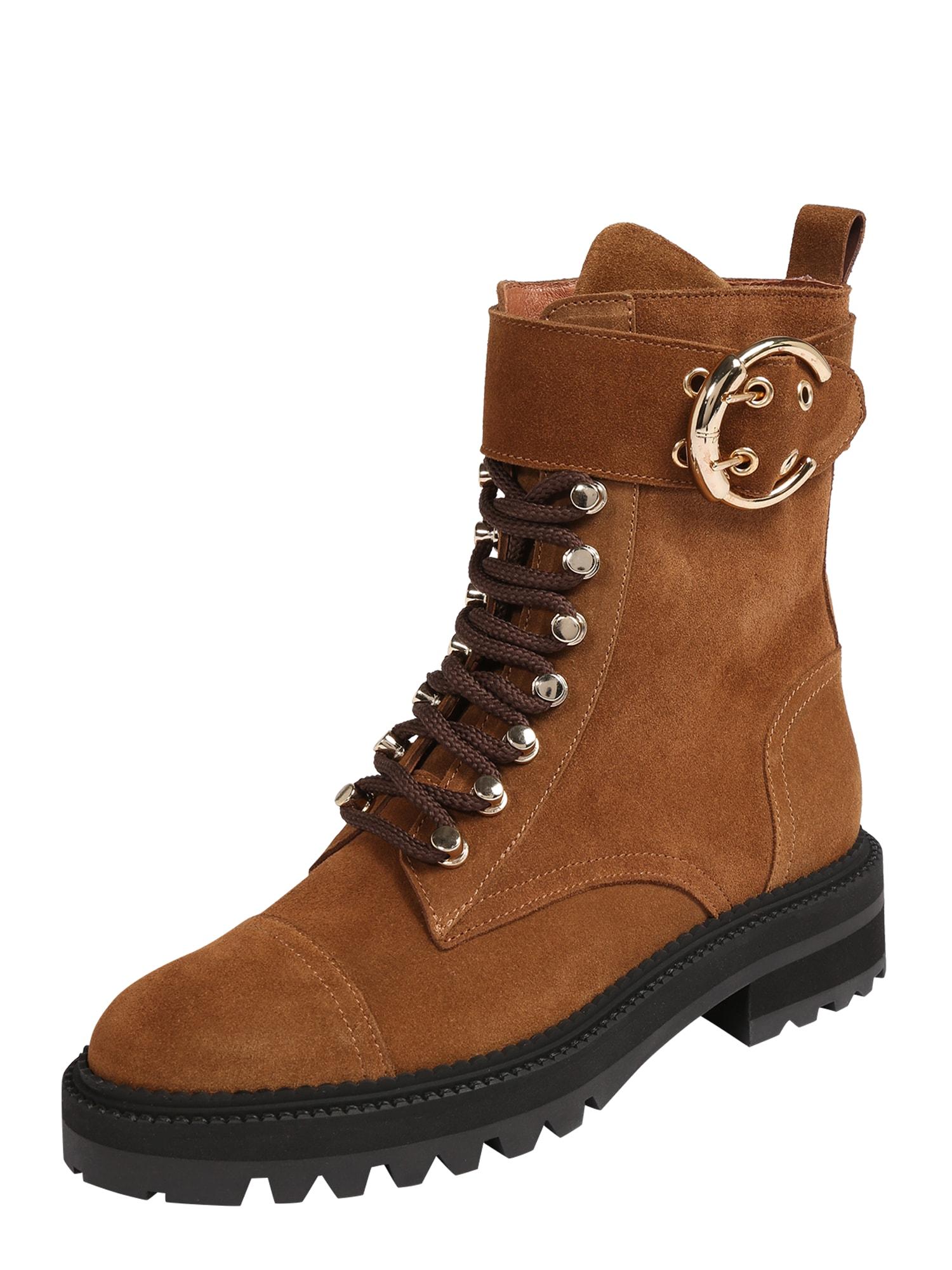 Billi Bi Suvarstomieji kulkšnis dengiantys batai ruda