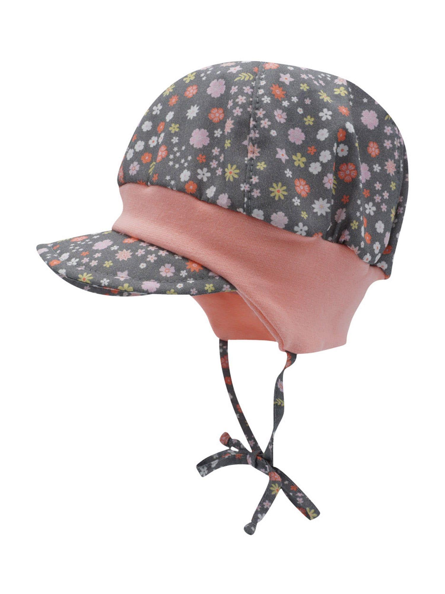 MAXIMO Megzta kepurė mišrios spalvos / tamsiai pilka / rožių spalva
