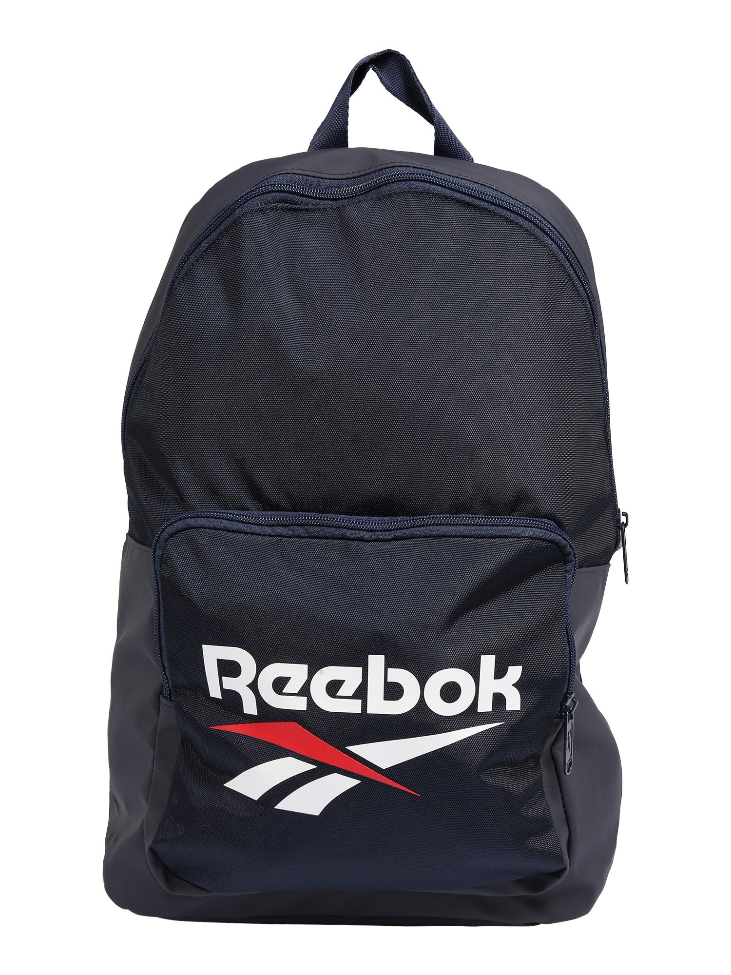 REEBOK Sportinė kuprinė tamsiai mėlyna / balta / raudona