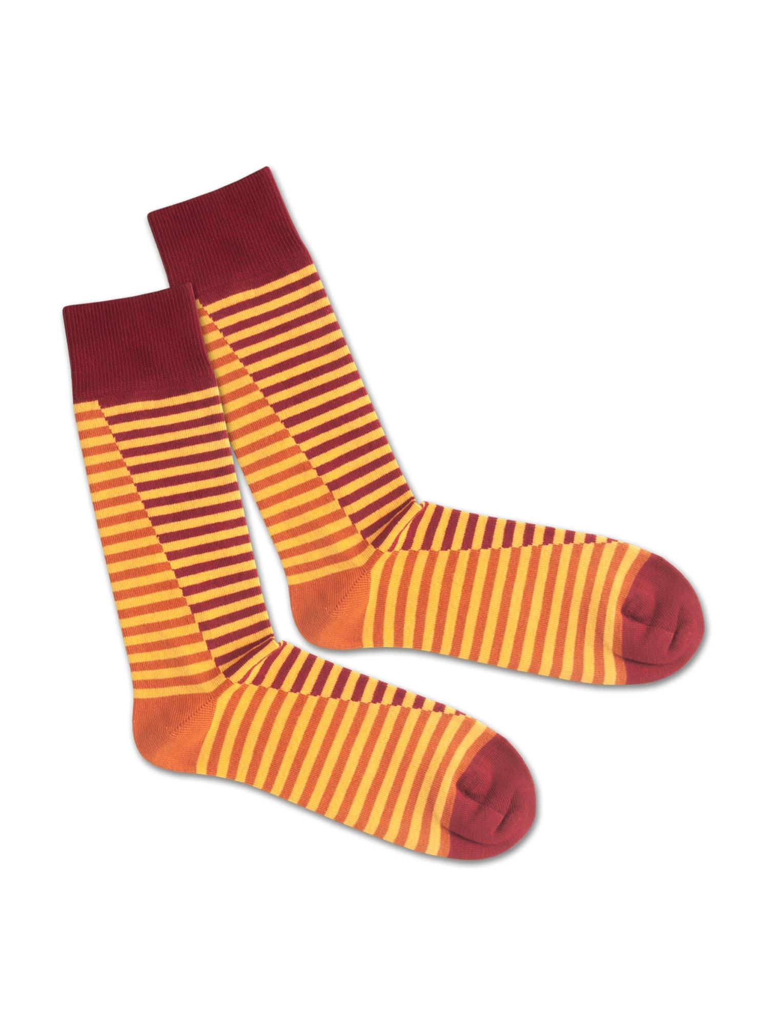 DillySocks Ponožky 'SS20-09 Double Lave Liner'  žlutá / červená / oranžová