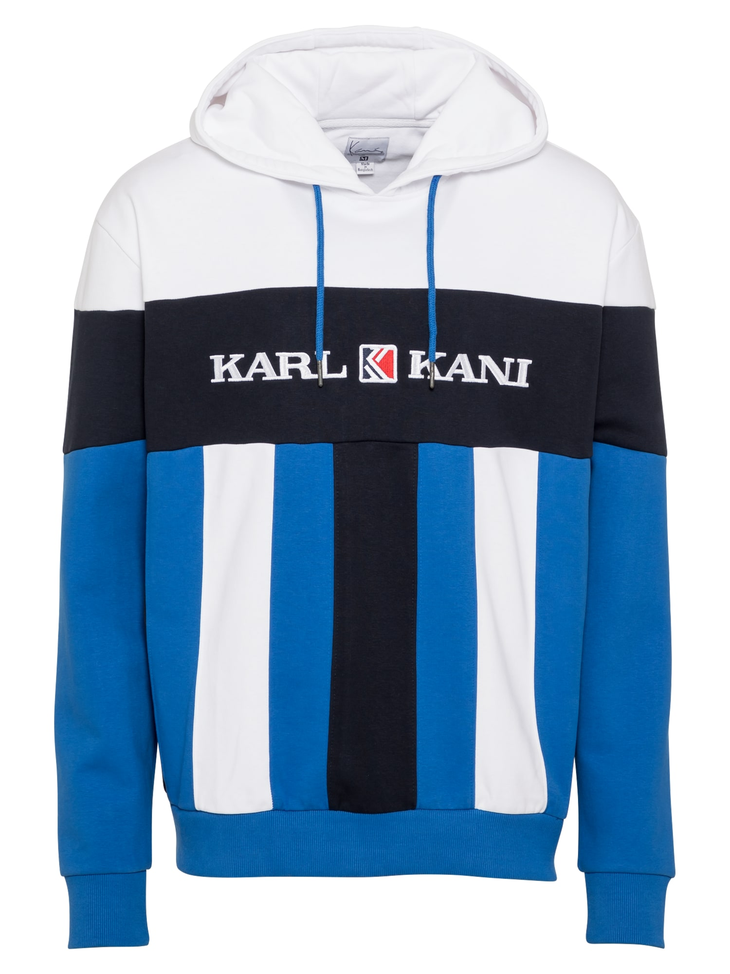 Karl Kani Megztinis be užsegimo balta / tamsiai mėlyna / mėlyna
