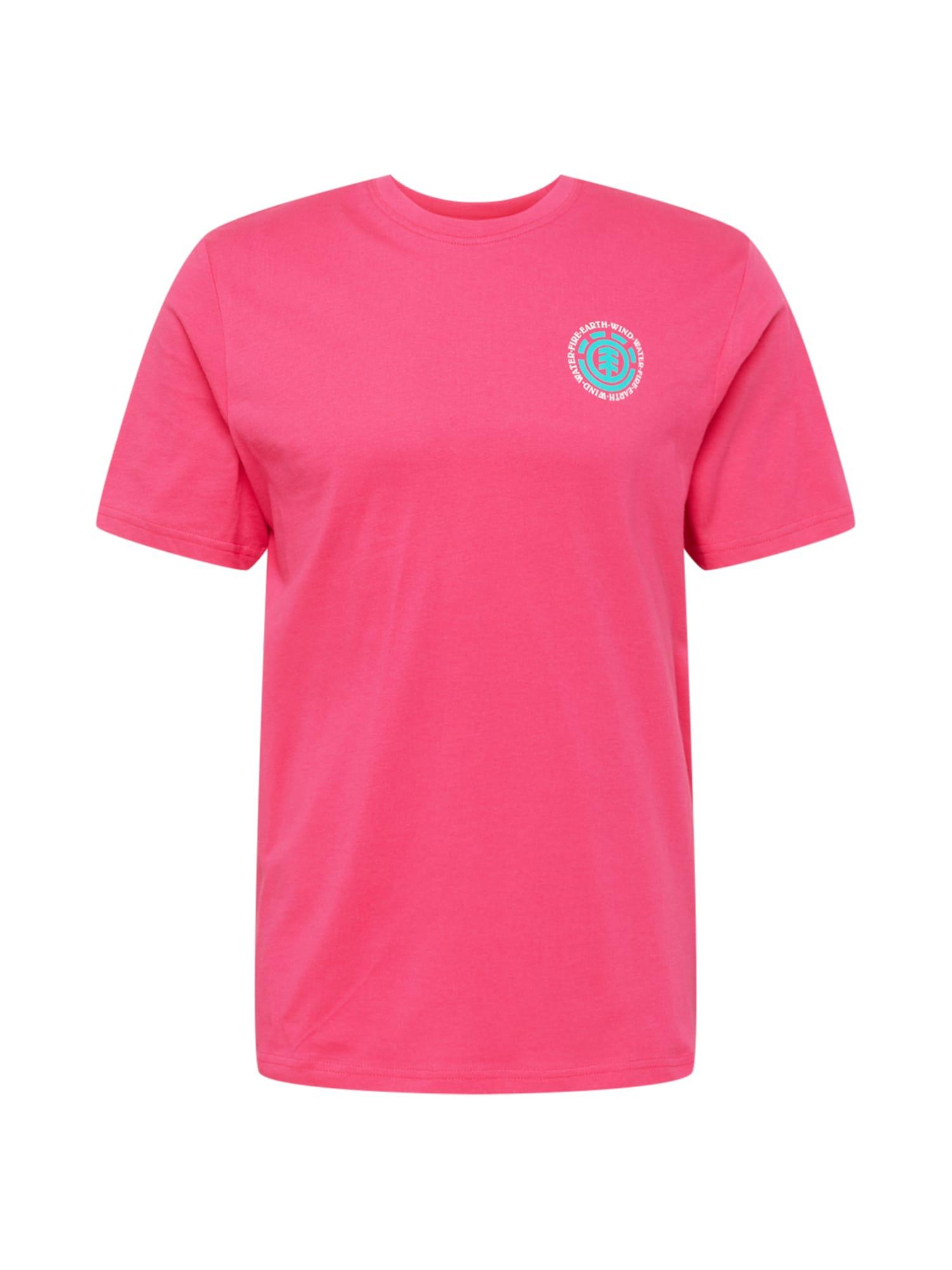 ELEMENT Sportiniai marškinėliai ryškiai raudona / balta / turkio spalva