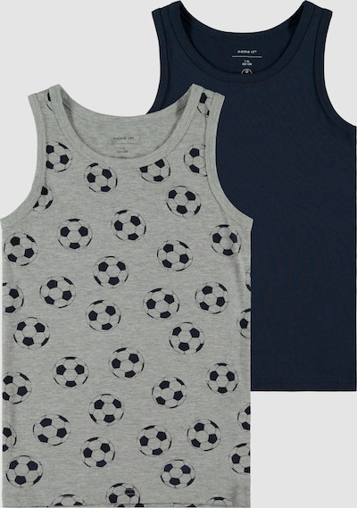 Name It Kids graumeliertes Fußball-Tank­top im 2er-Pack