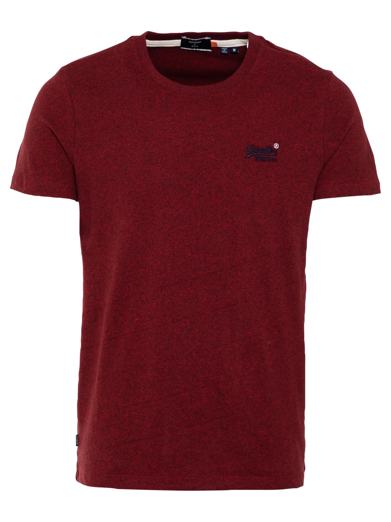 Superdry Marškinėliai 'Vintage' tamsiai raudona