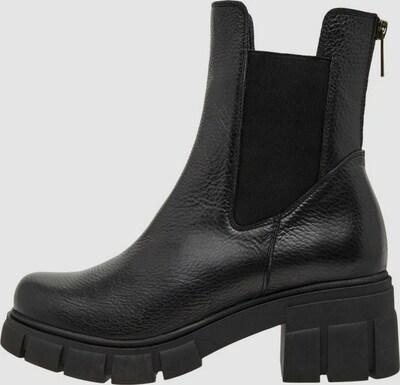 - Runde Schuhspitze - Obermaterial aus Leder - Elastische Seiteneinsätze - Reißverschluss hinten - Chunky-Sohle - Absatzhöhe: 5cm