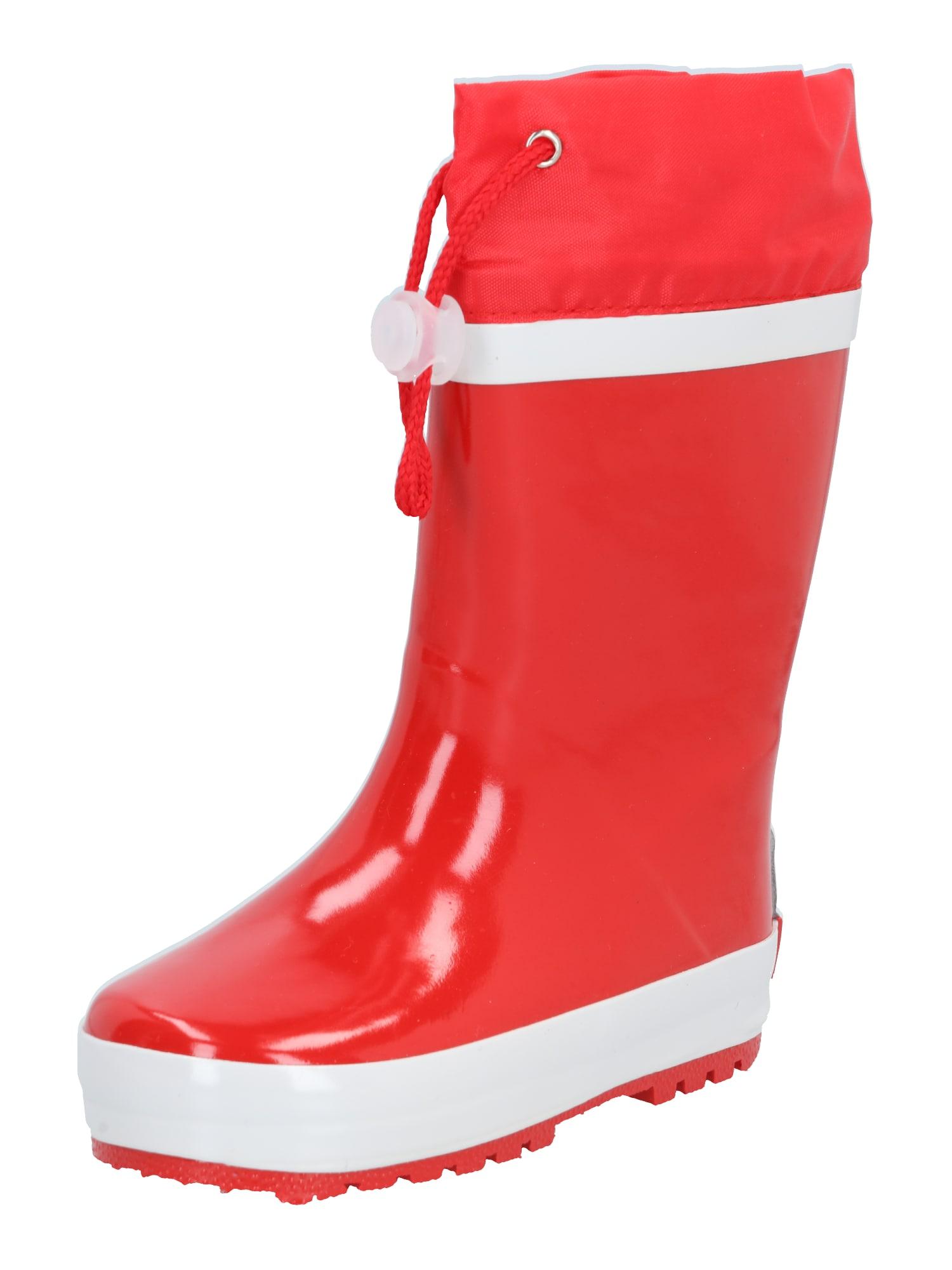 PLAYSHOES Guminiai batai balta / raudona