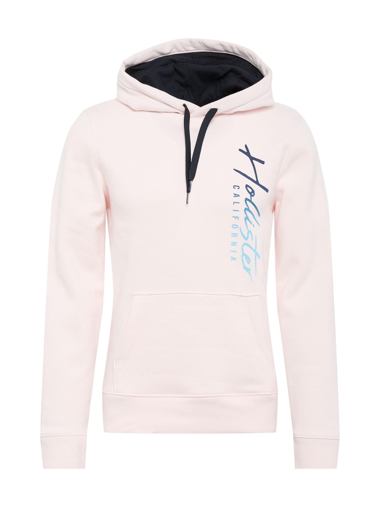 HOLLISTER Mikina  pastelově růžová / tyrkysová / námořnická modř / tmavě modrá