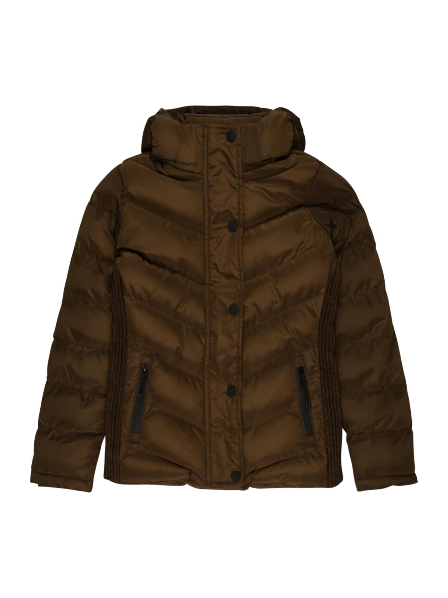 Cars Jeans Žieminė striukė 'Lurdes' tamsiai ruda