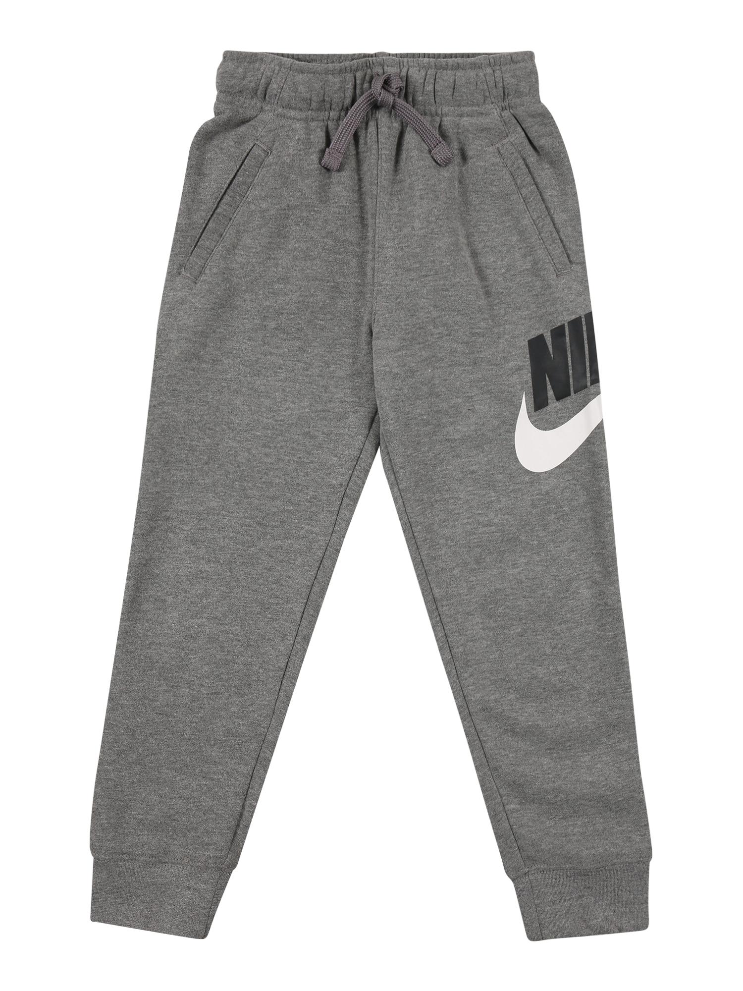Nike Sportswear Kelnės balta / pilka / juoda