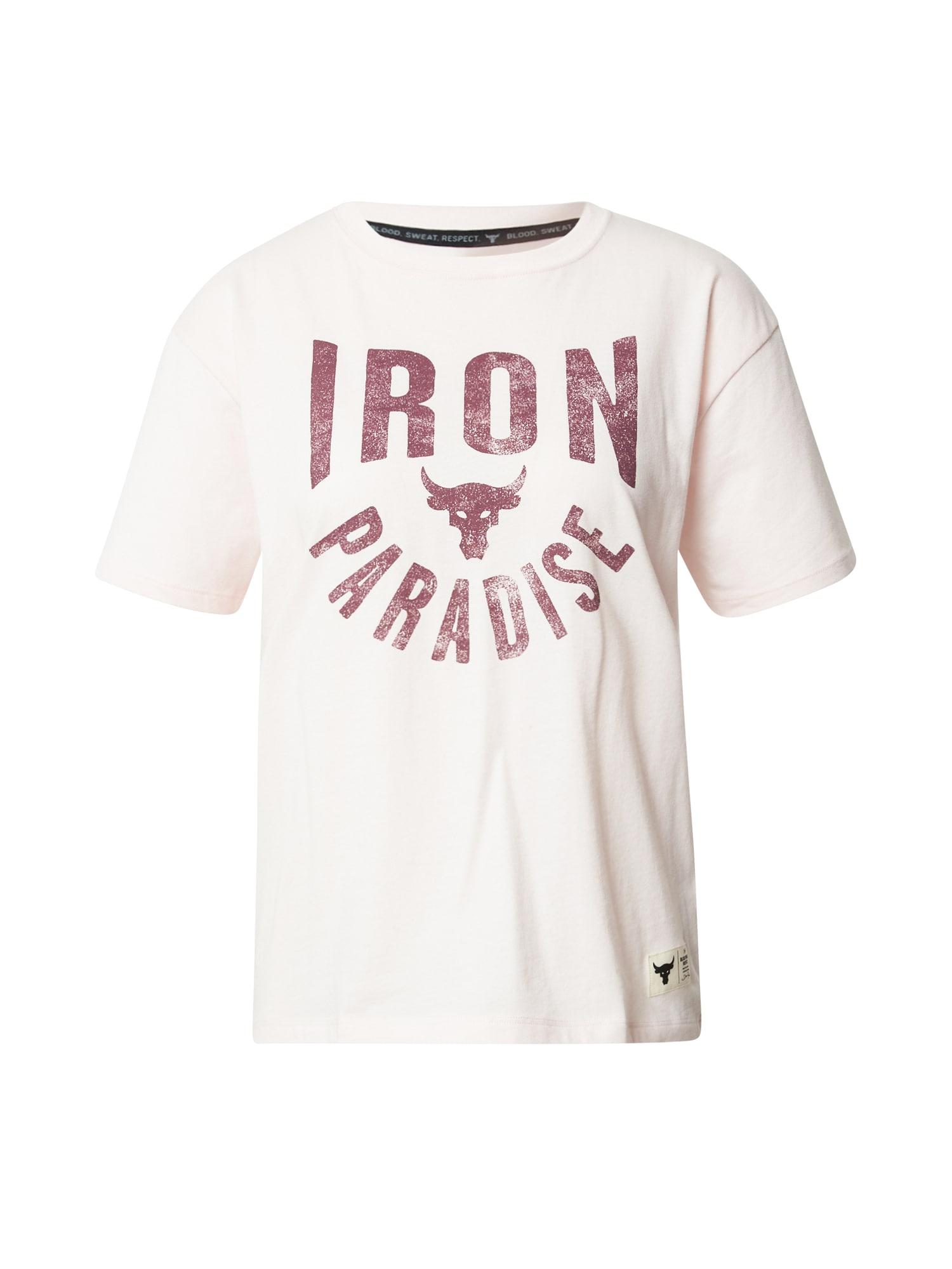 UNDER ARMOUR Funkční tričko 'Project'  pink / pudrová