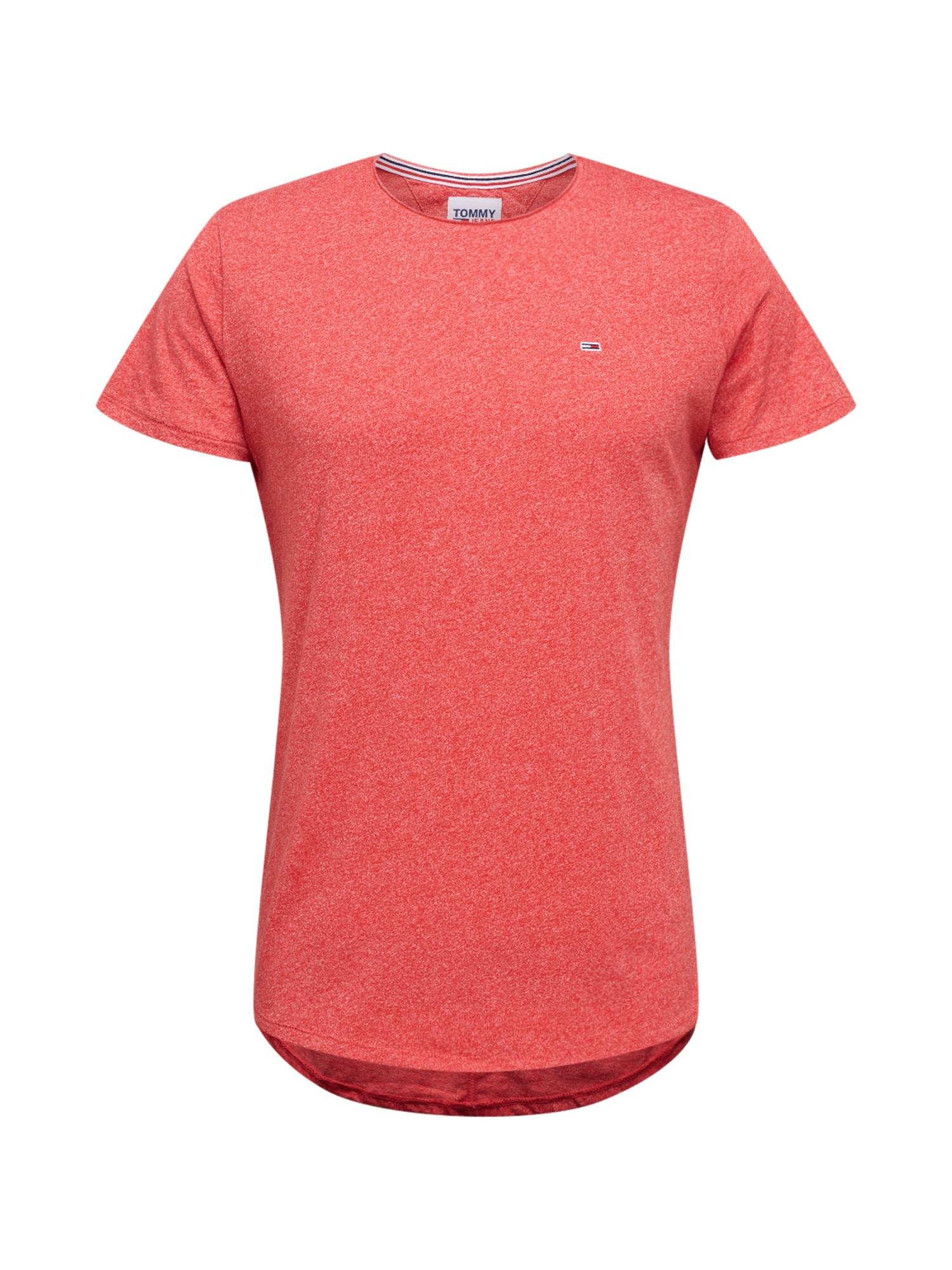 Tommy Jeans Tričko  tmavě červená