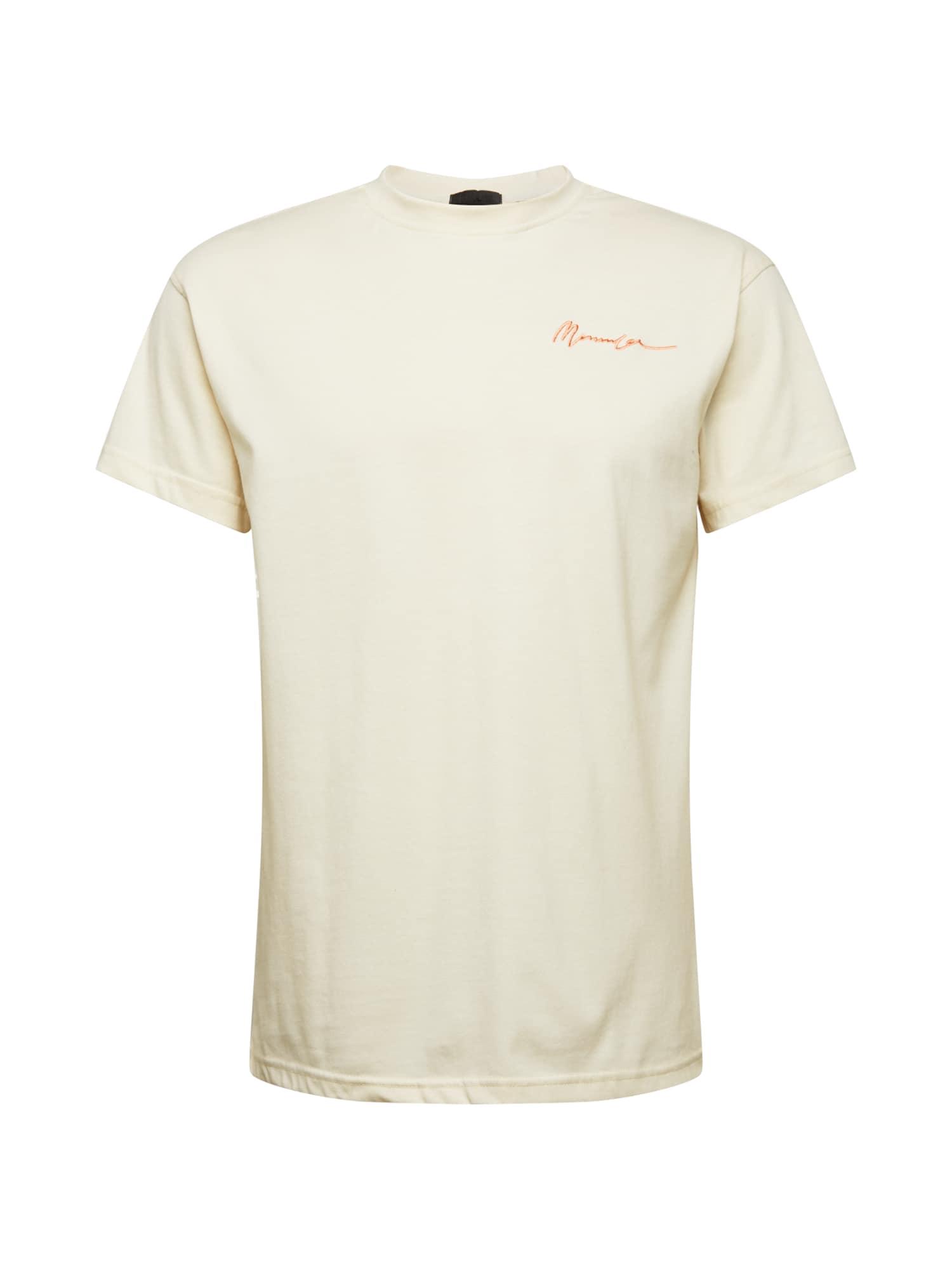 Mennace Marškinėliai kremo / šviesiai oranžinė
