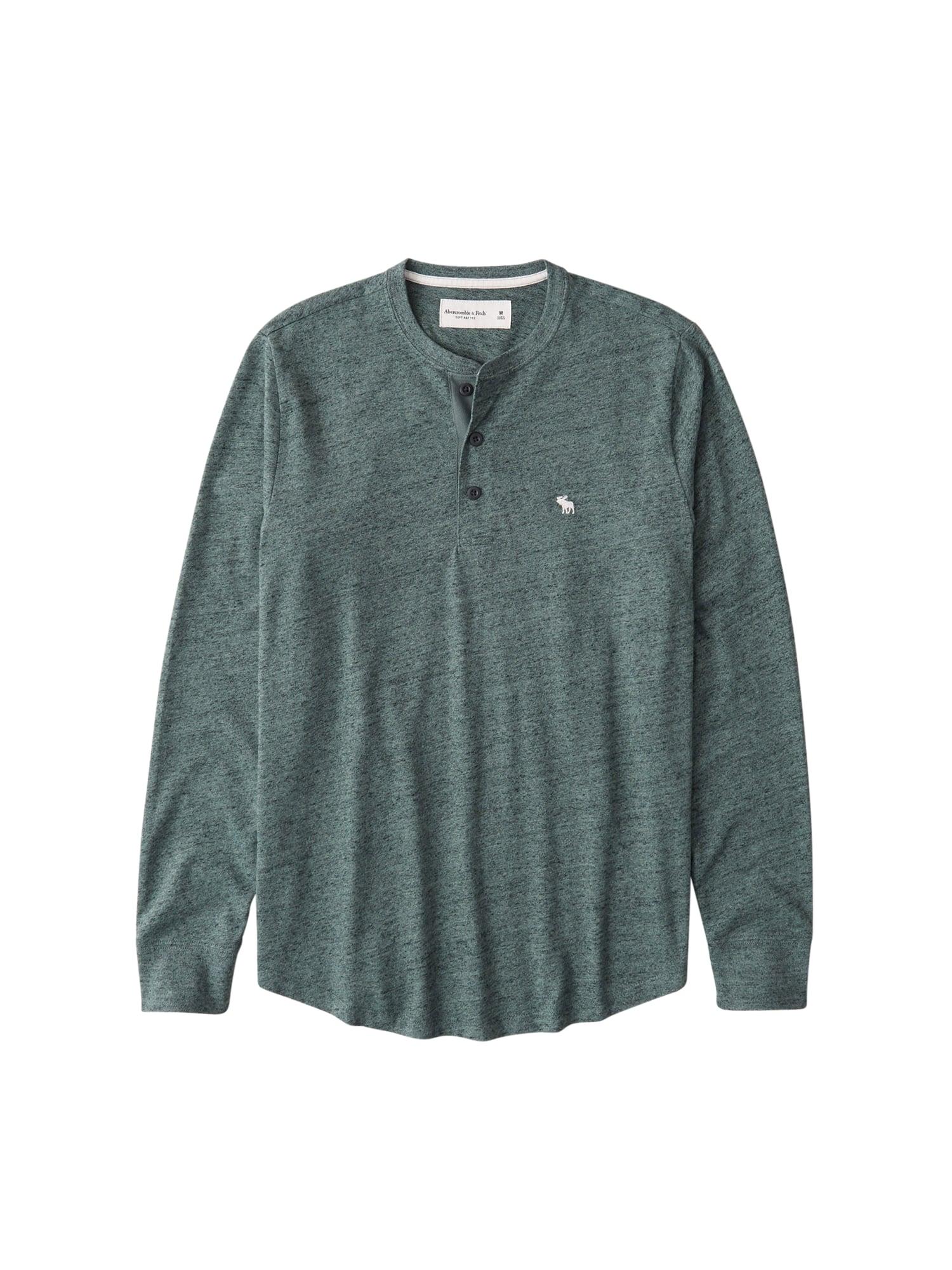 Abercrombie & Fitch Marškinėliai pastelinė žalia / balta