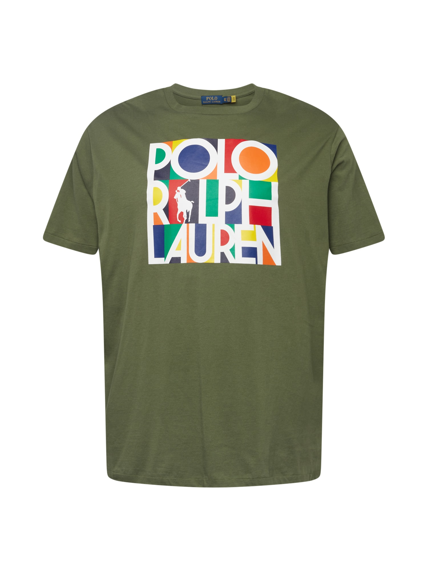 Polo Ralph Lauren Big & Tall Marškinėliai tamsiai žalia / mišrios spalvos