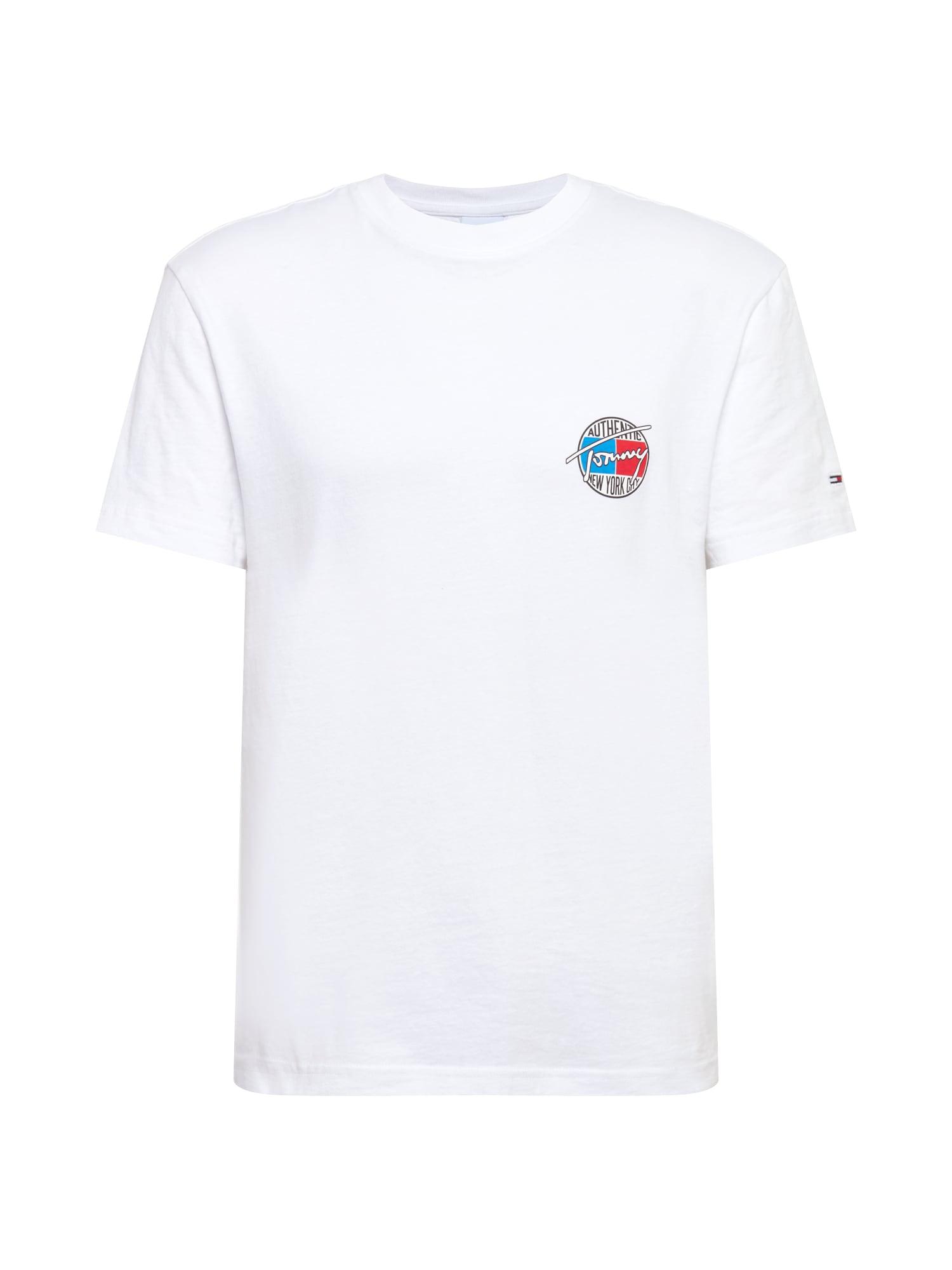 Tommy Jeans Tričko 'RETRO'  bílá / červená / královská modrá