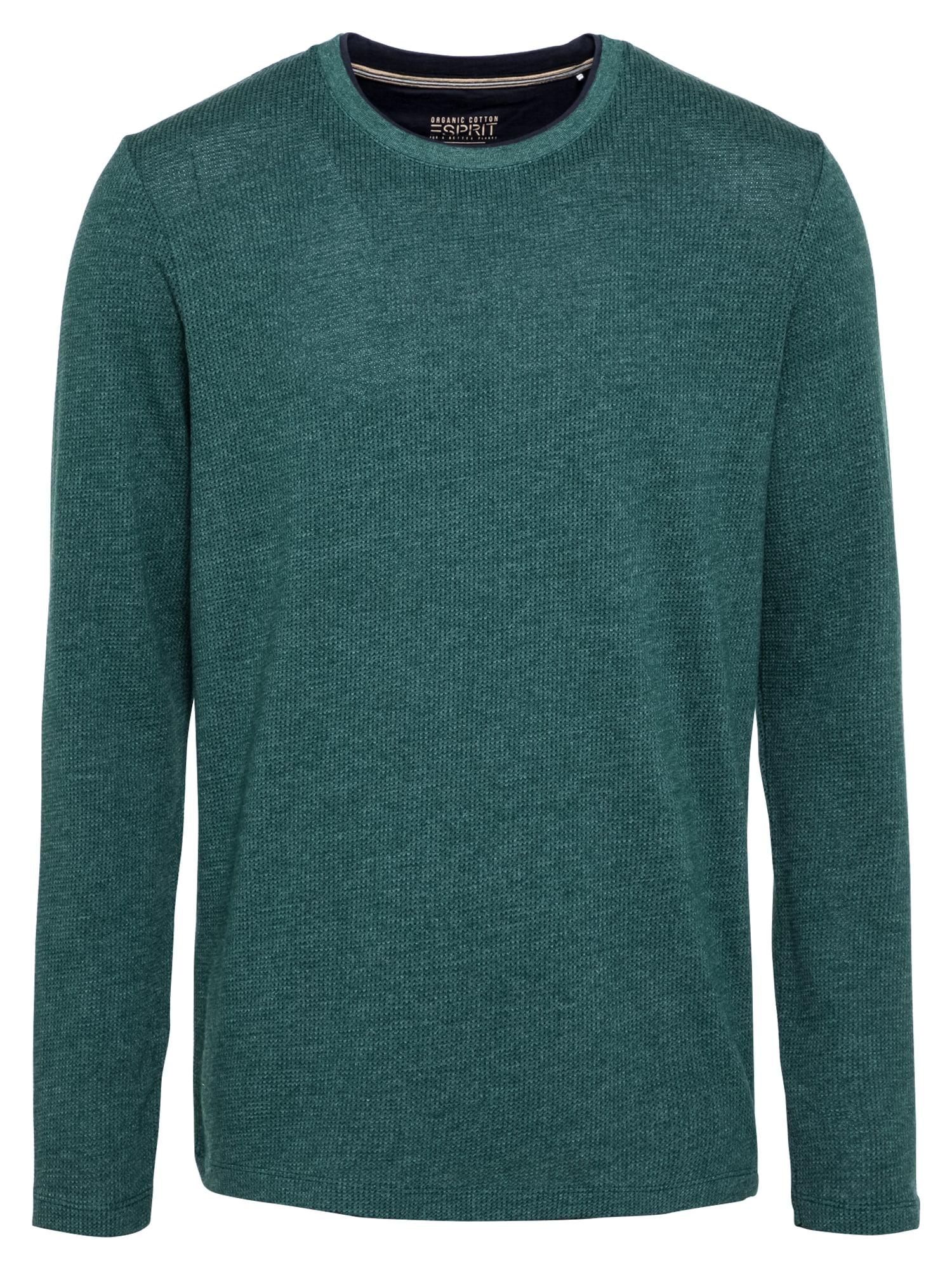 ESPRIT Marškinėliai tamsiai žalia / mėlyna