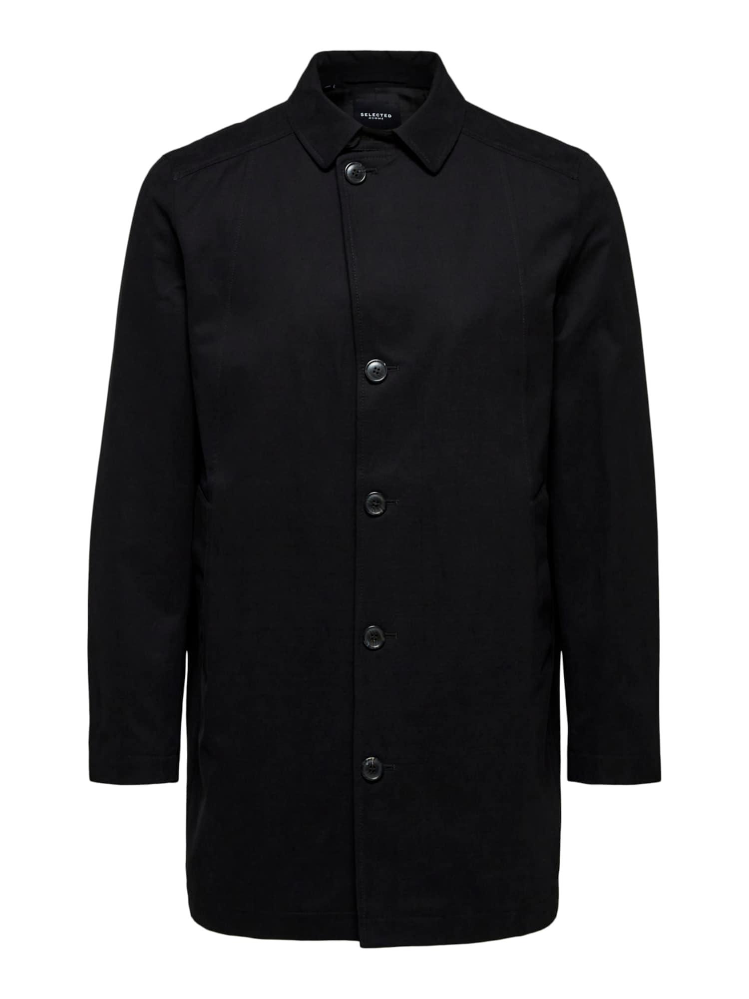 SELECTED HOMME Demisezoninis paltas juoda
