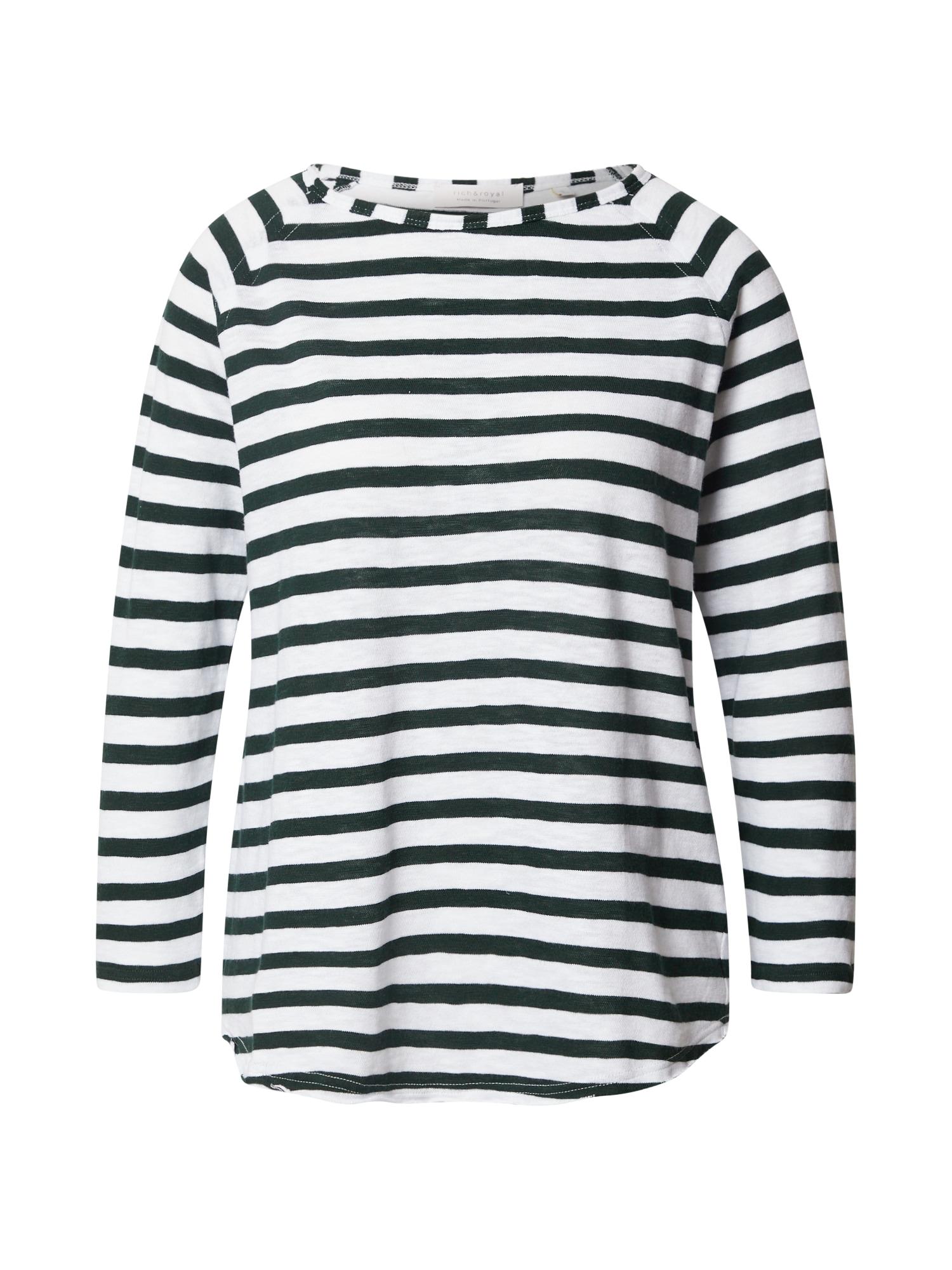 Rich & Royal Marškinėliai tamsiai žalia / balta